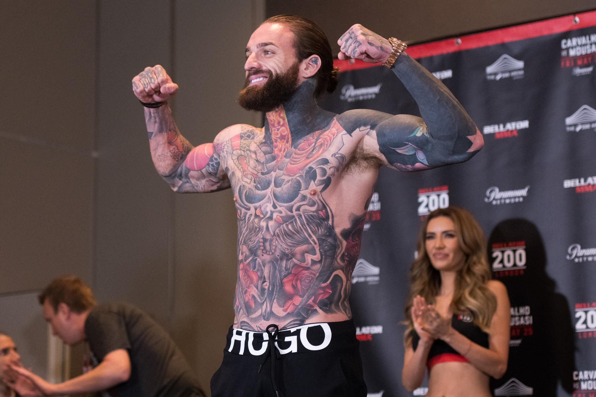 Aaron Chalmers was in confident mood at the weigh-in for his big night at Wembley