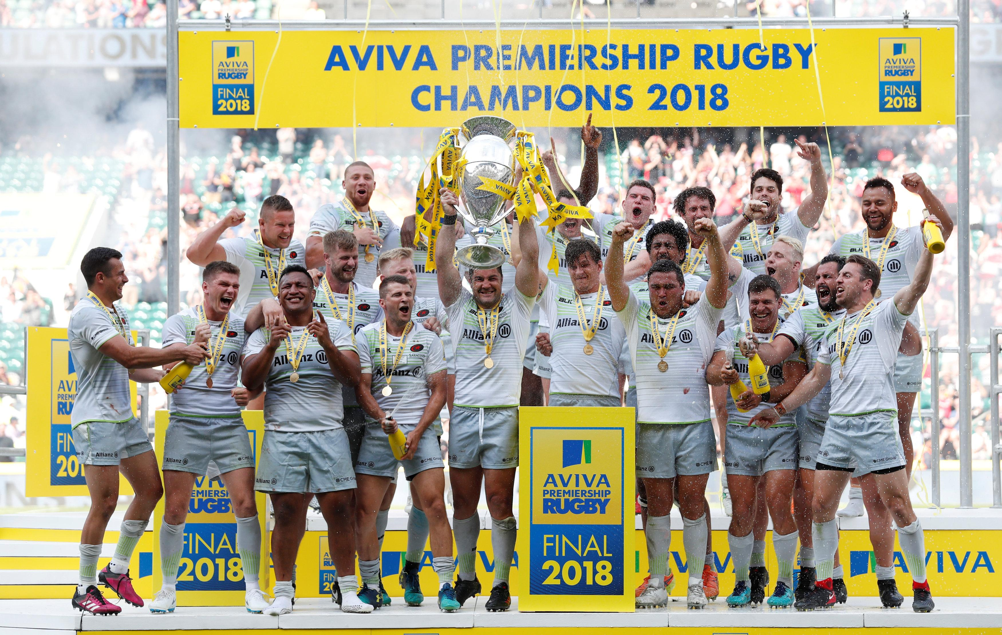 Saracens lifted their third Premiership crown in four years