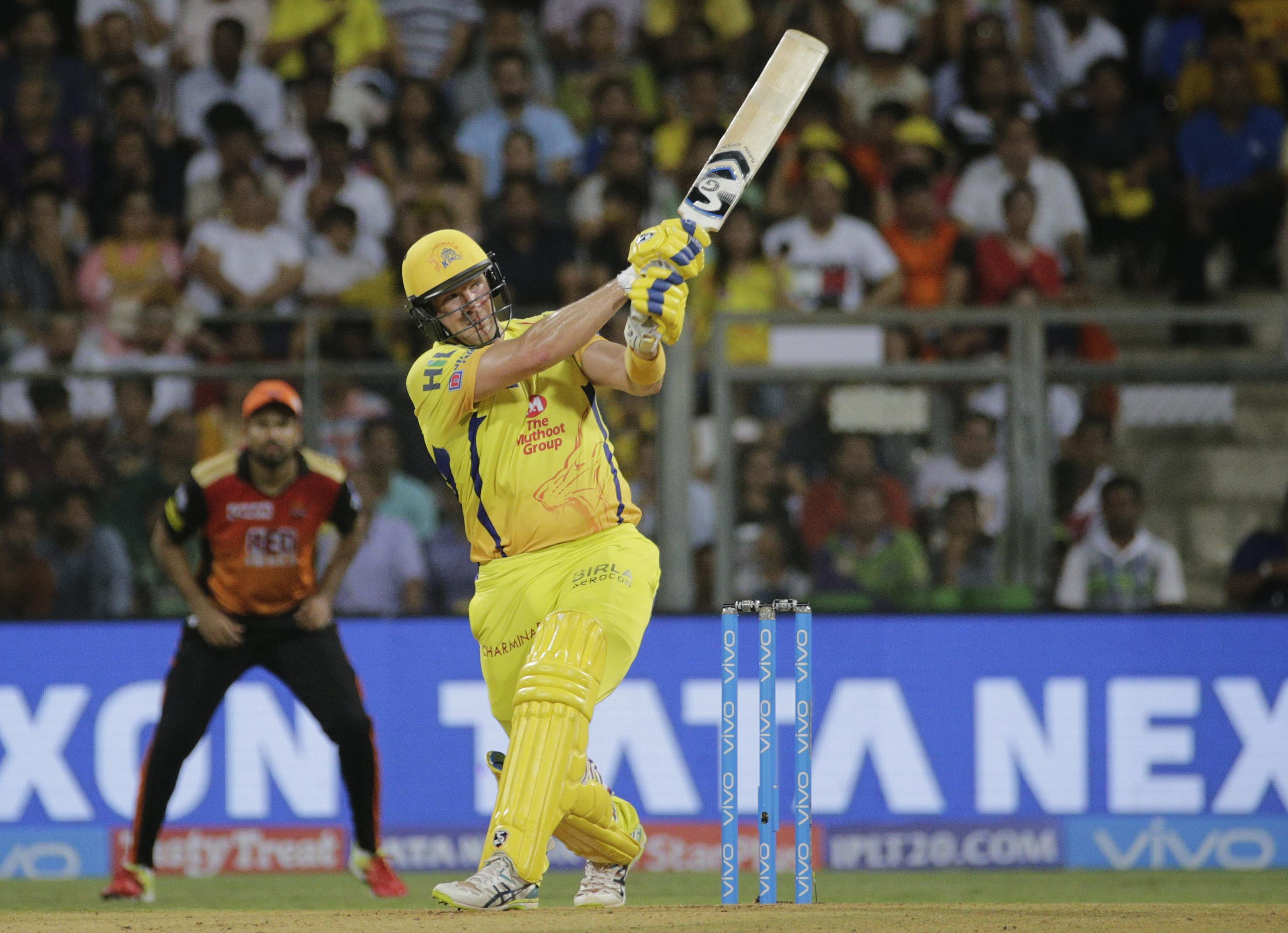 Shane Watson starred in the Indian Premier League final for Chennai Super Kings
