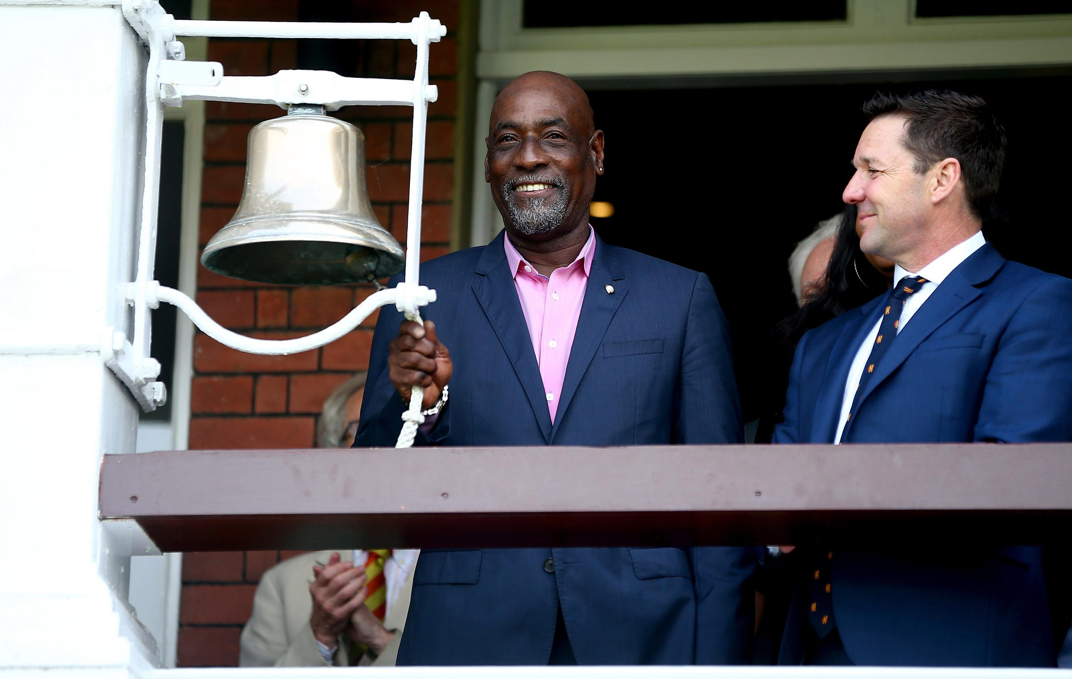 West Indies legend Sir Viv Richards rang the five-minute bell at Lord's