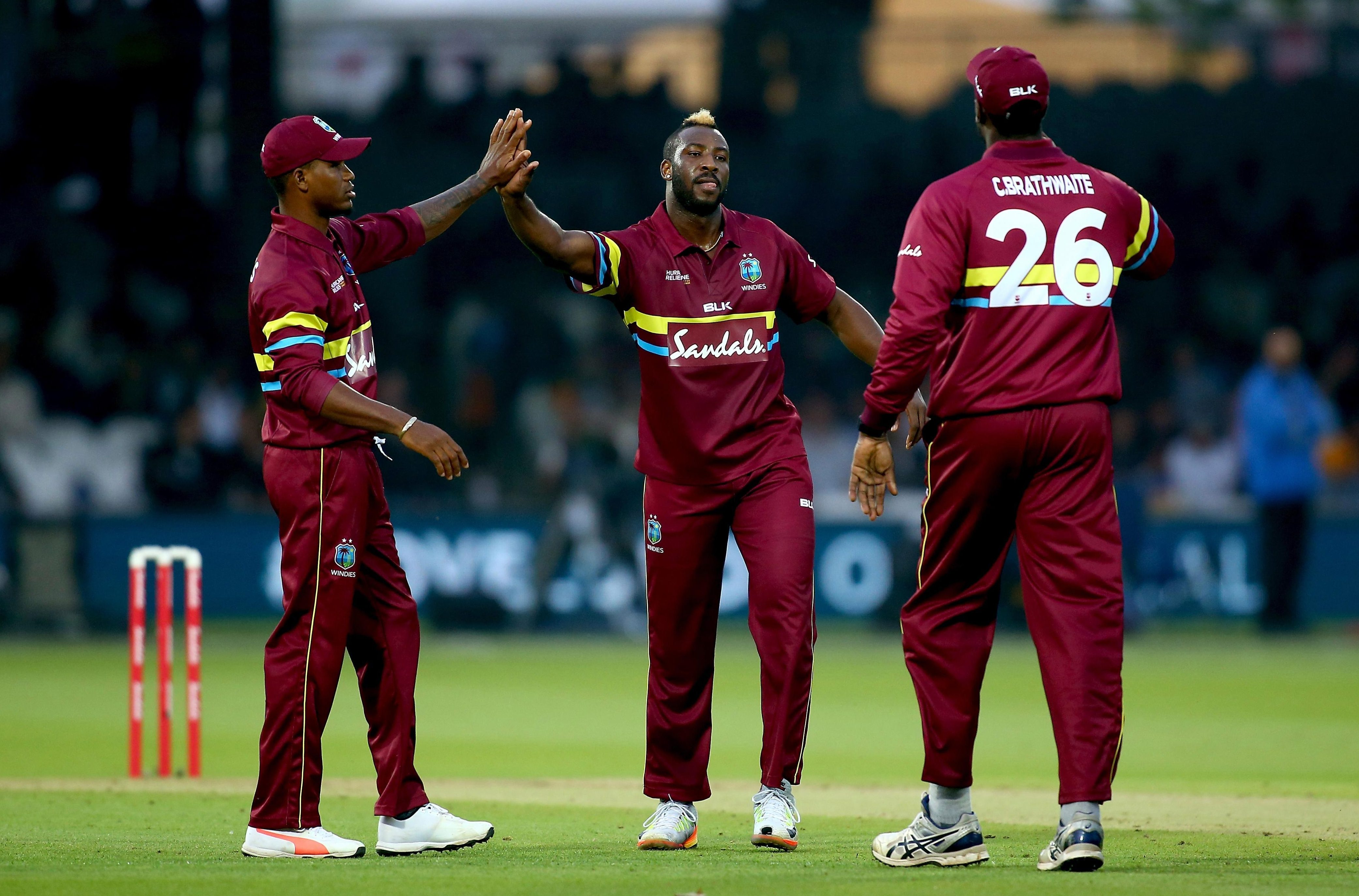 IPL star Andre Russell picked up two wickets for West Indies