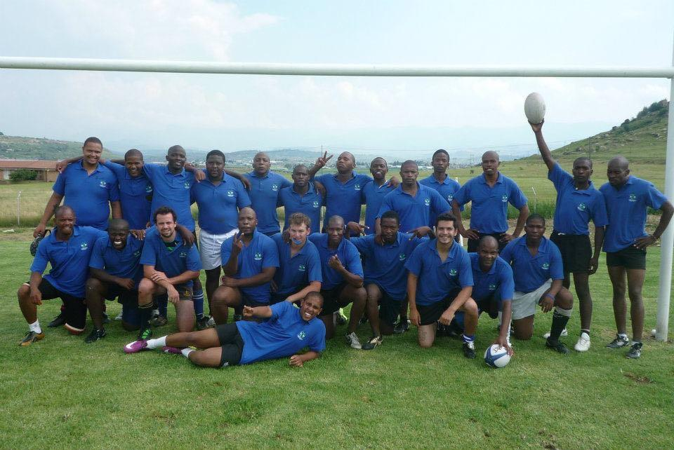 Lesotho's national side after their first ever game of rugby