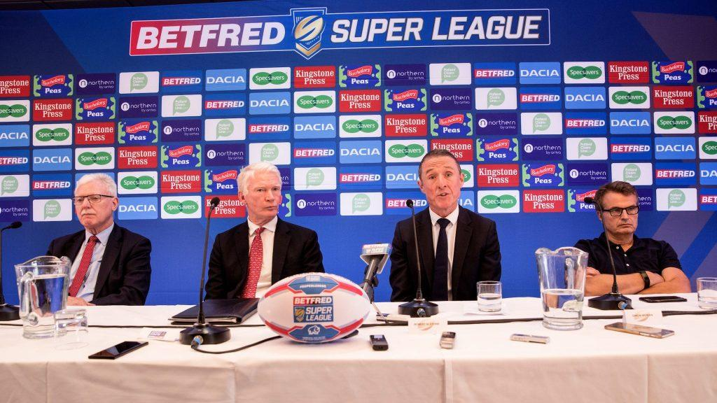 Robert Elstone (second right) believes Super League clubs must do everything they can in terms of youth development