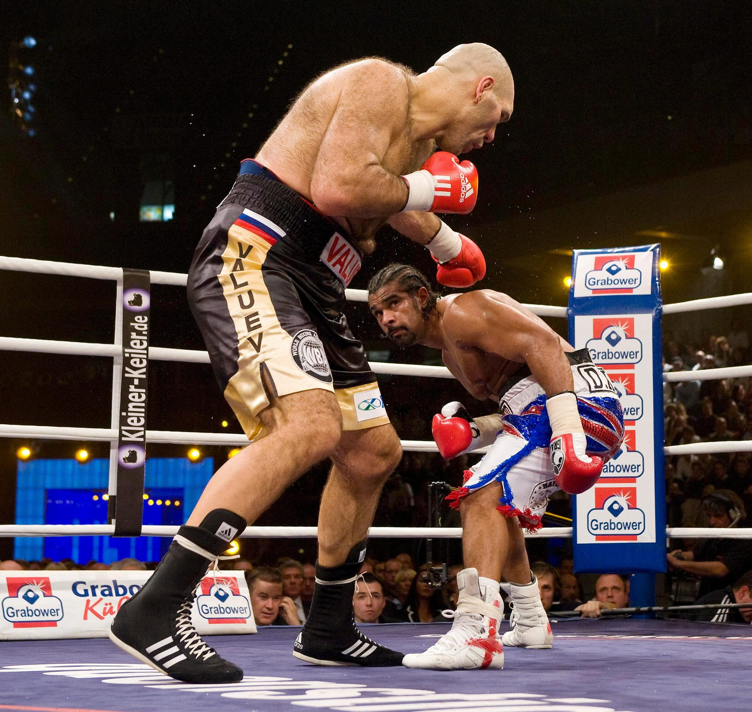 Valuev weighed in more than 100 pounds heavier than Haye for the 2009 world title fight, but the Brit came out on top