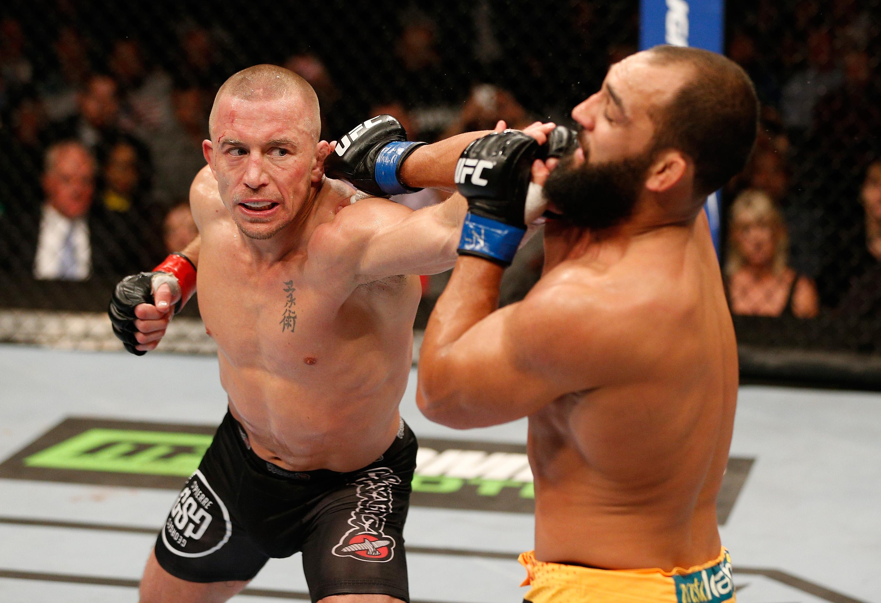 St-Pierre has won titles at two UFC weight divisions
