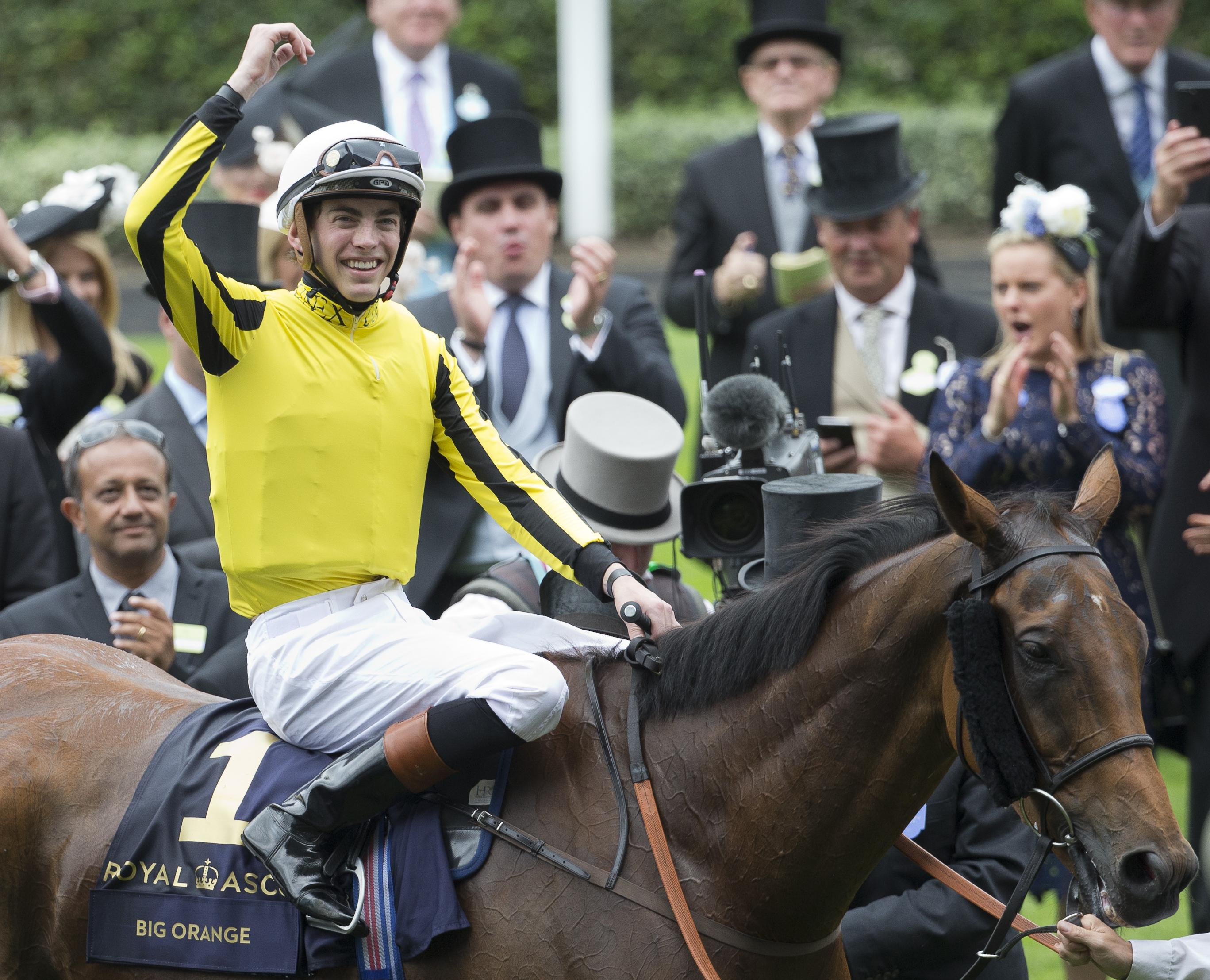 Big Orange and jockey James Doyle after winning last year's Gold Cup