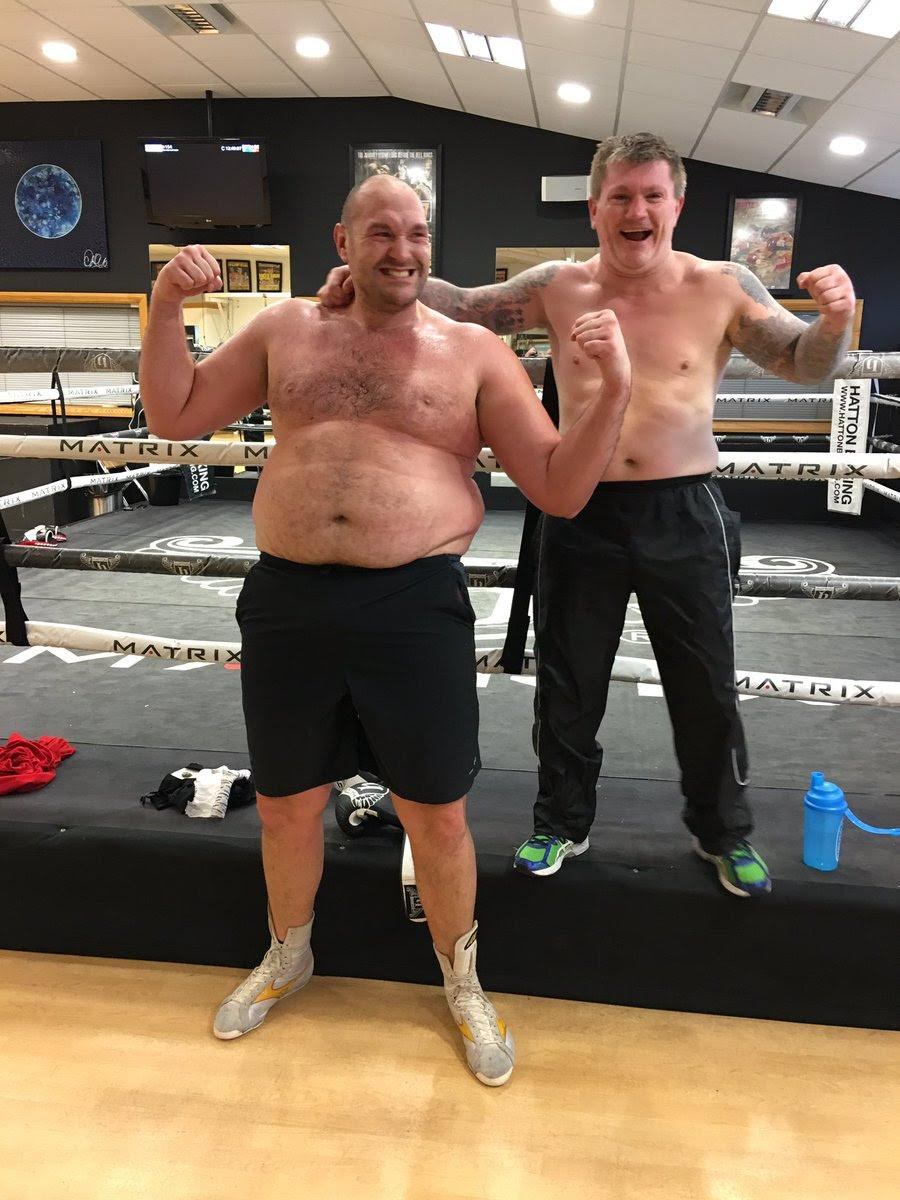Fury has come a long way since arriving at Hatton's gym before Christmas