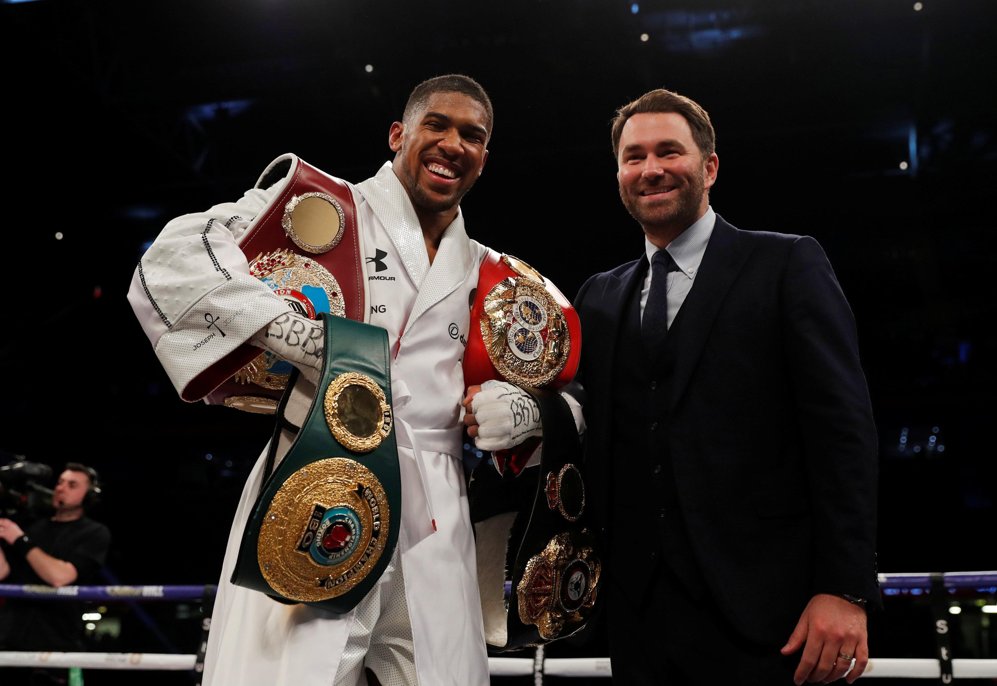 WBC champ Deontay Wilder has accused Anthony Joshua and Eddie Hearn of running scared
