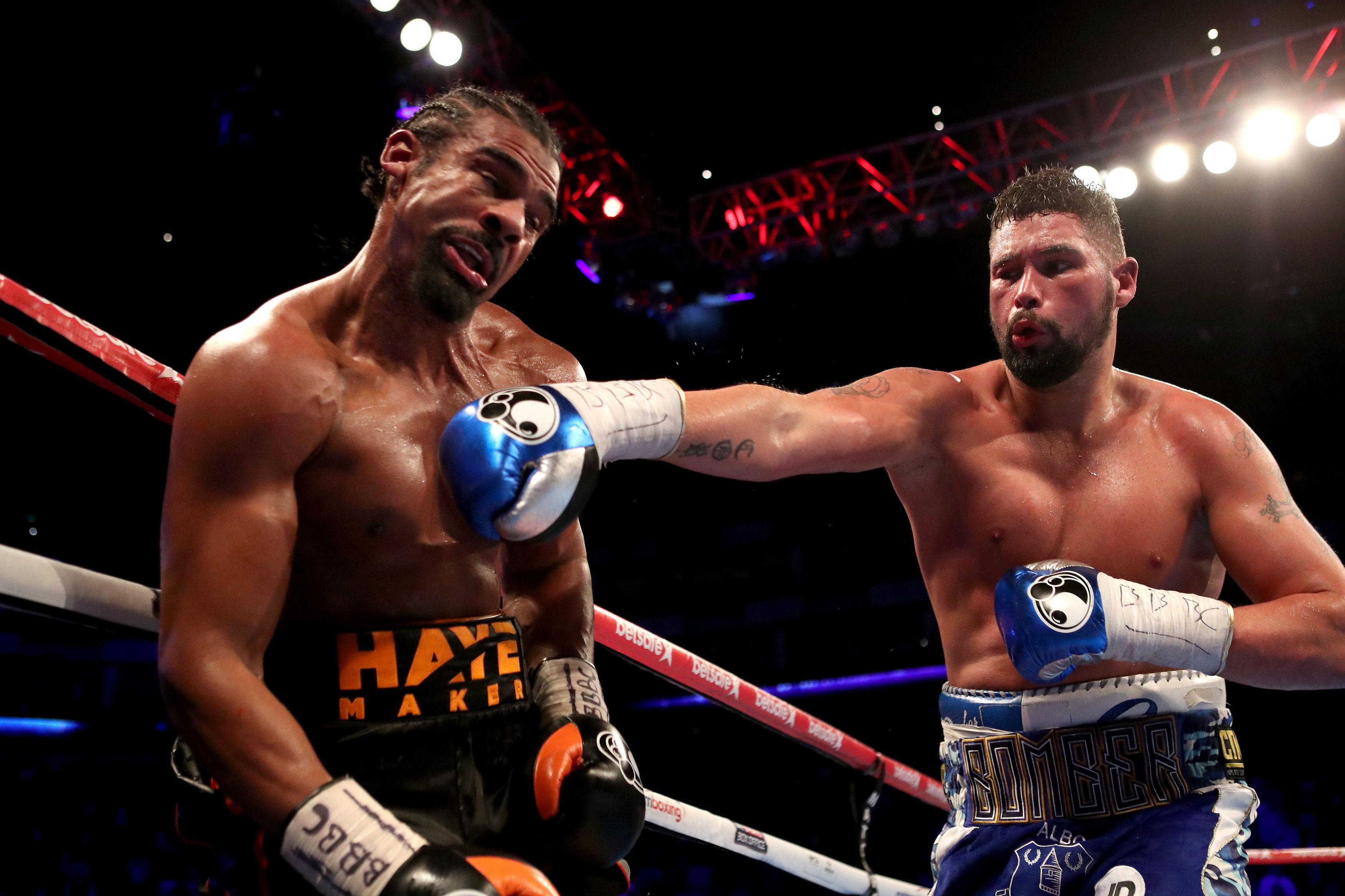 Bellew stopped Haye in the fifth round of their rematch on May 5