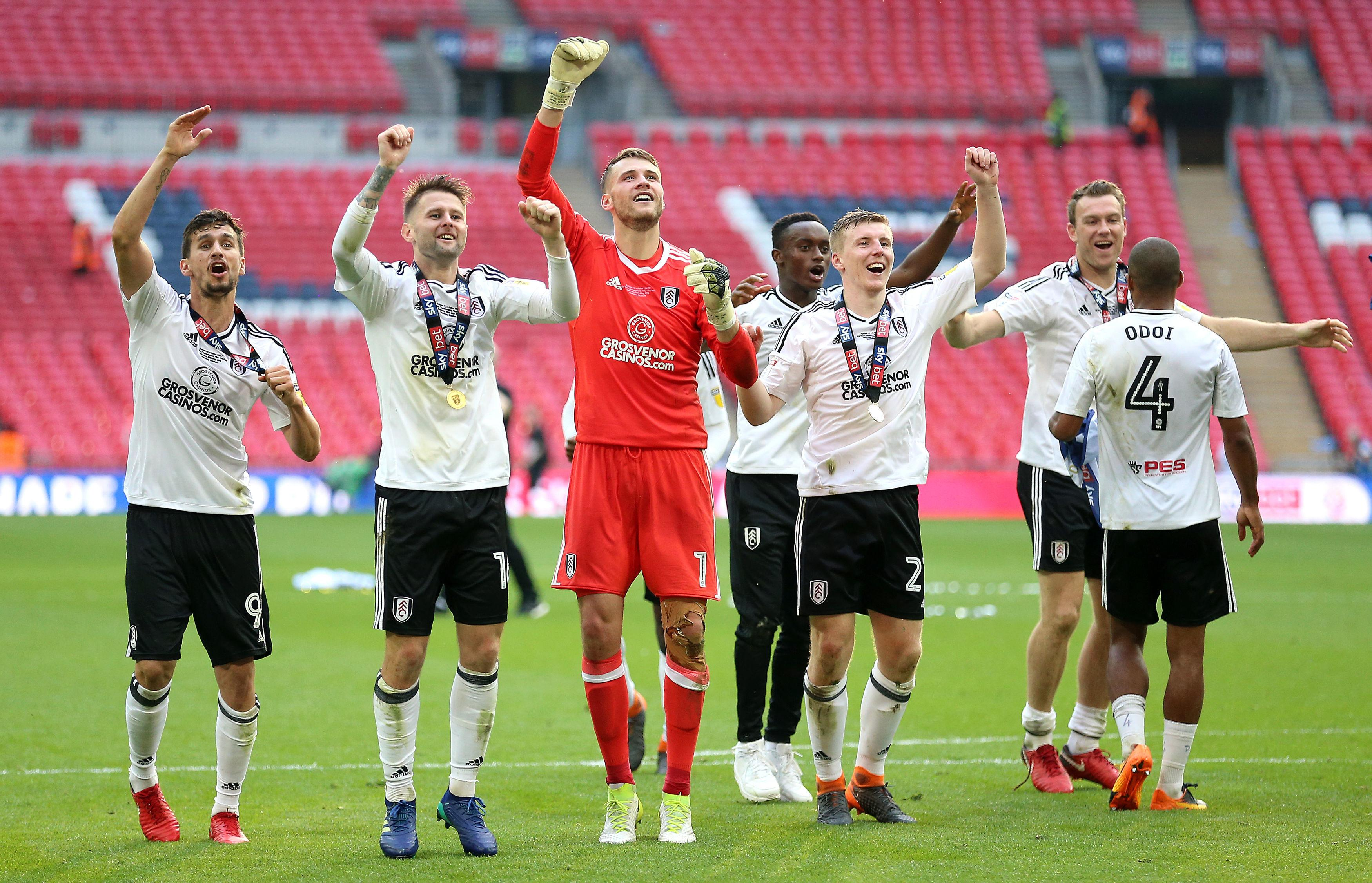 Targett helped Fulham to clinch promotion back to the Premier League