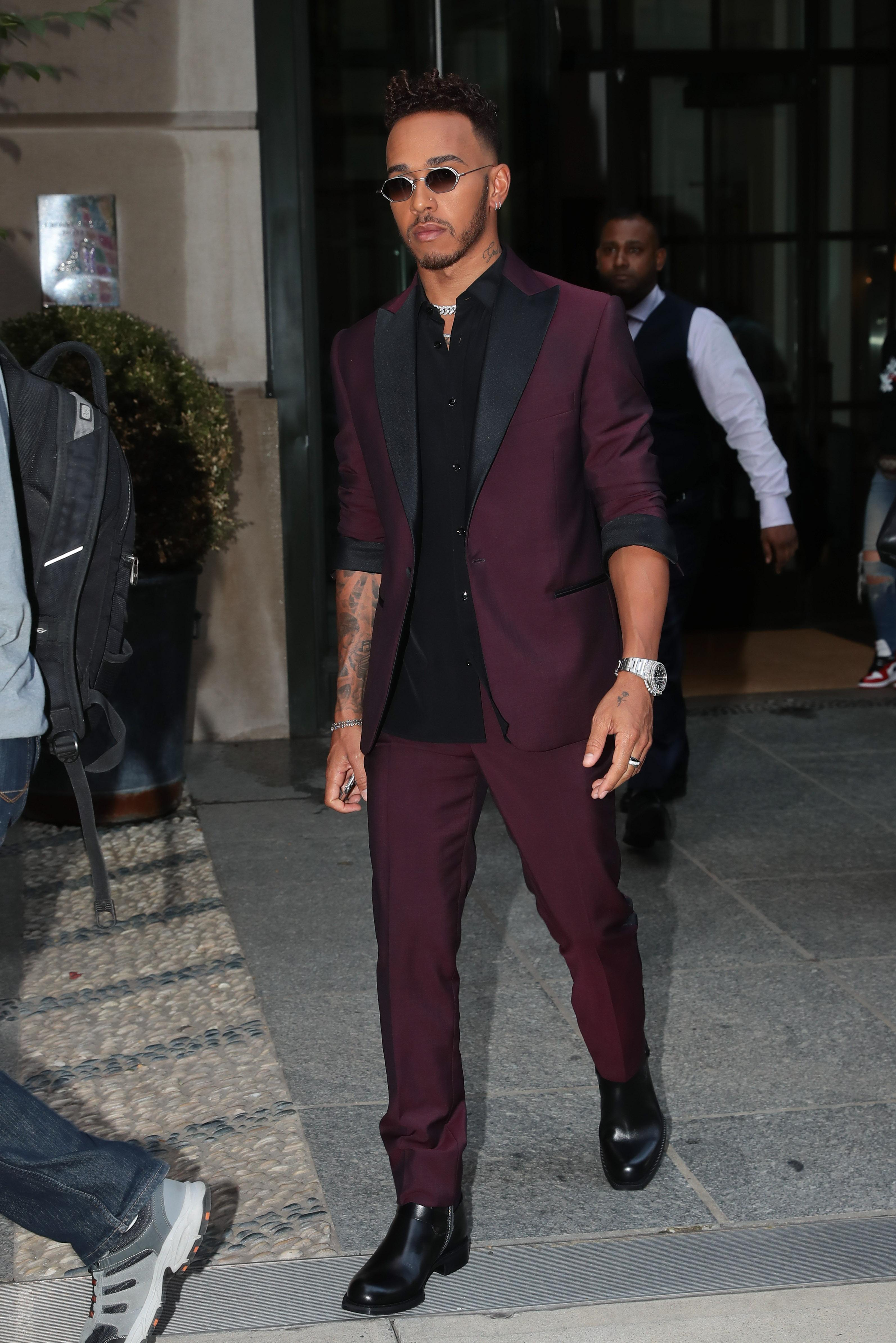 Lewis Hamilton attended a fashion bash in New York ahead of the Canadian Grand Prix this weekend