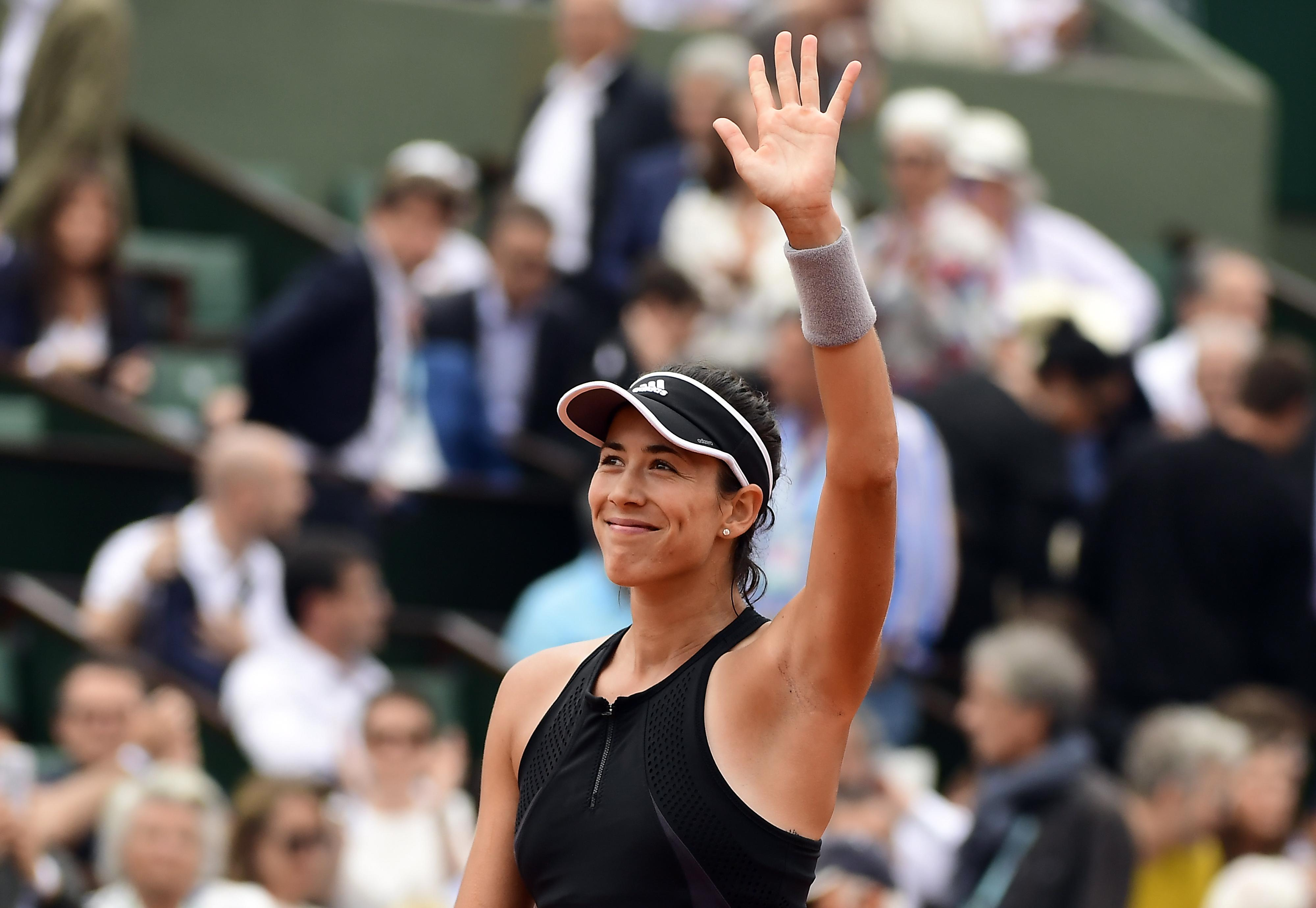 Reigning Wimbledon champion Muguruza is in the semi-finals of the French Open