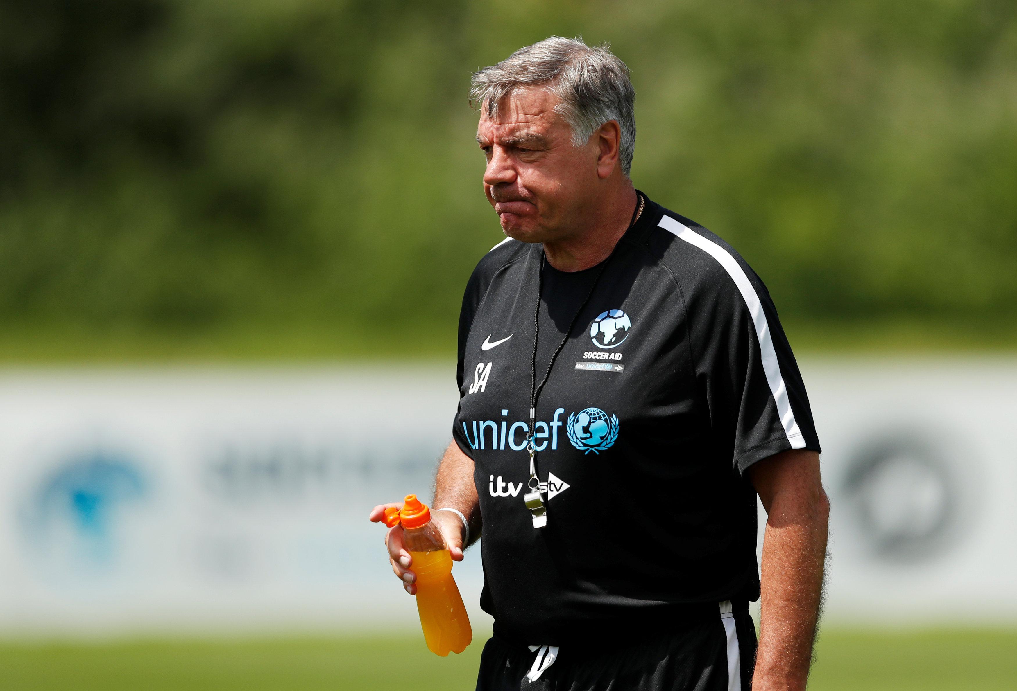 Sam Allardyce managed the England XI at Soccer Aid