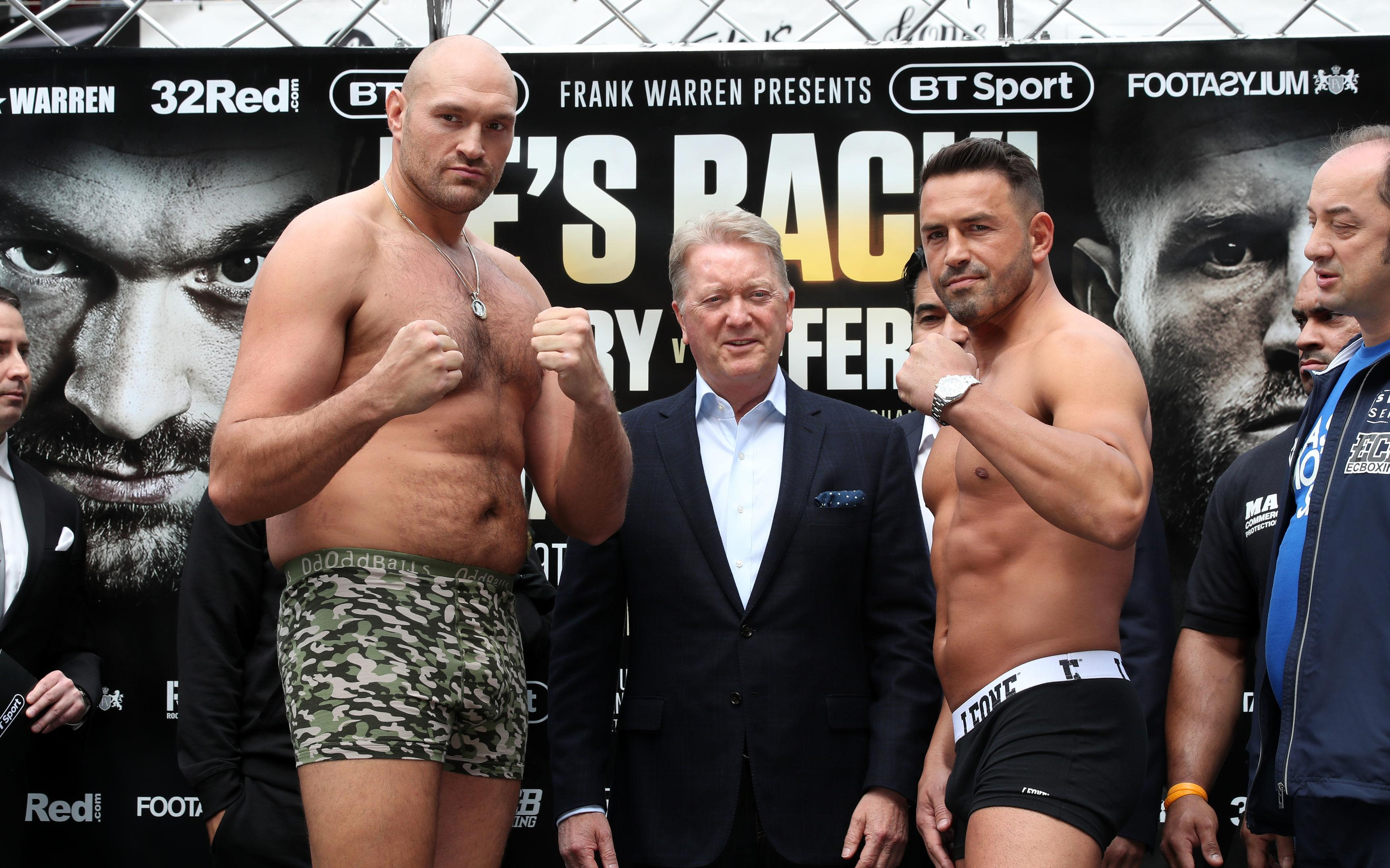 Tyson Fury believes he is on the path back to world titles - but first he must deal with Sefer Seferi