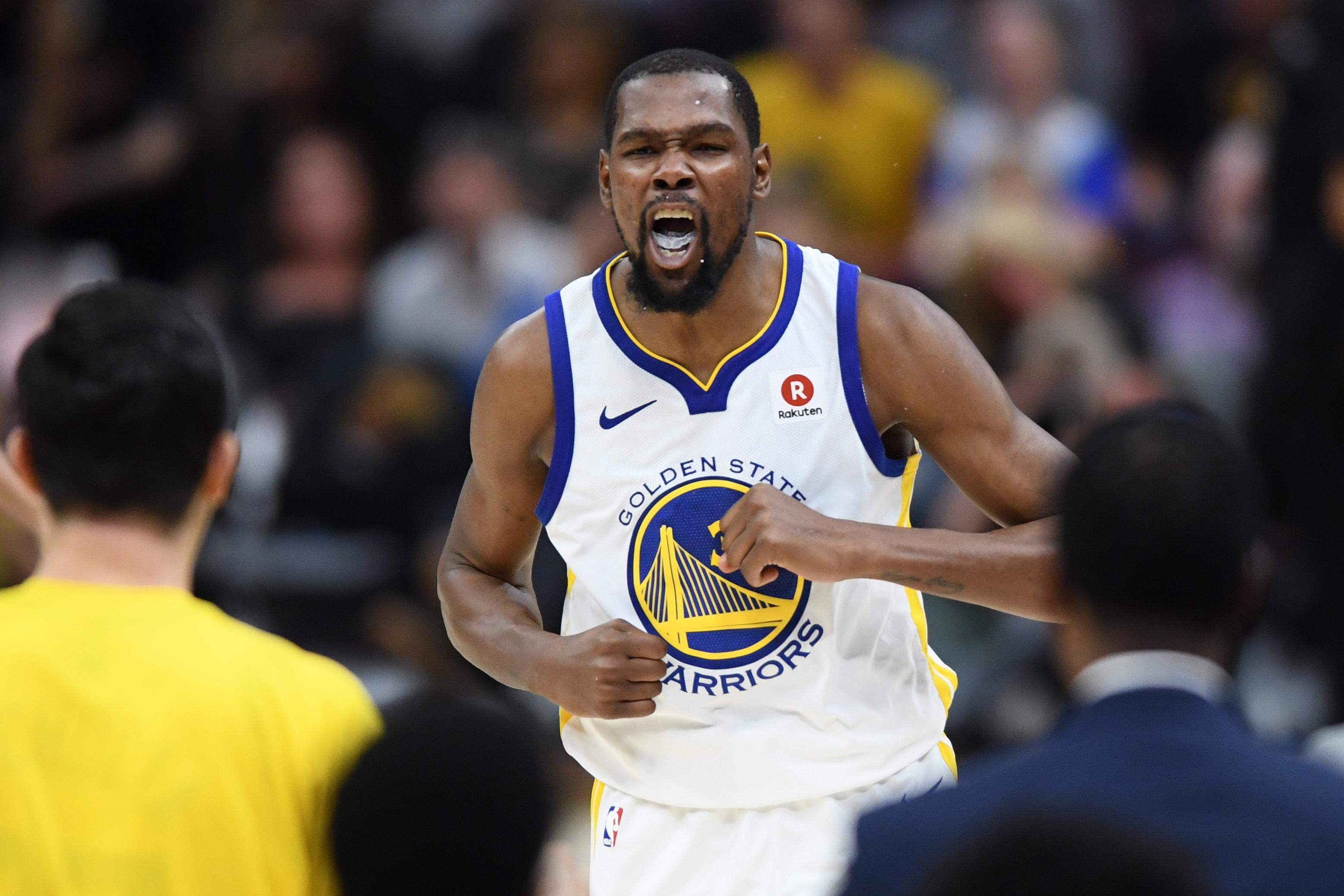 Kevin Durrant took the MVP award after helping to inspire Golden State to victory