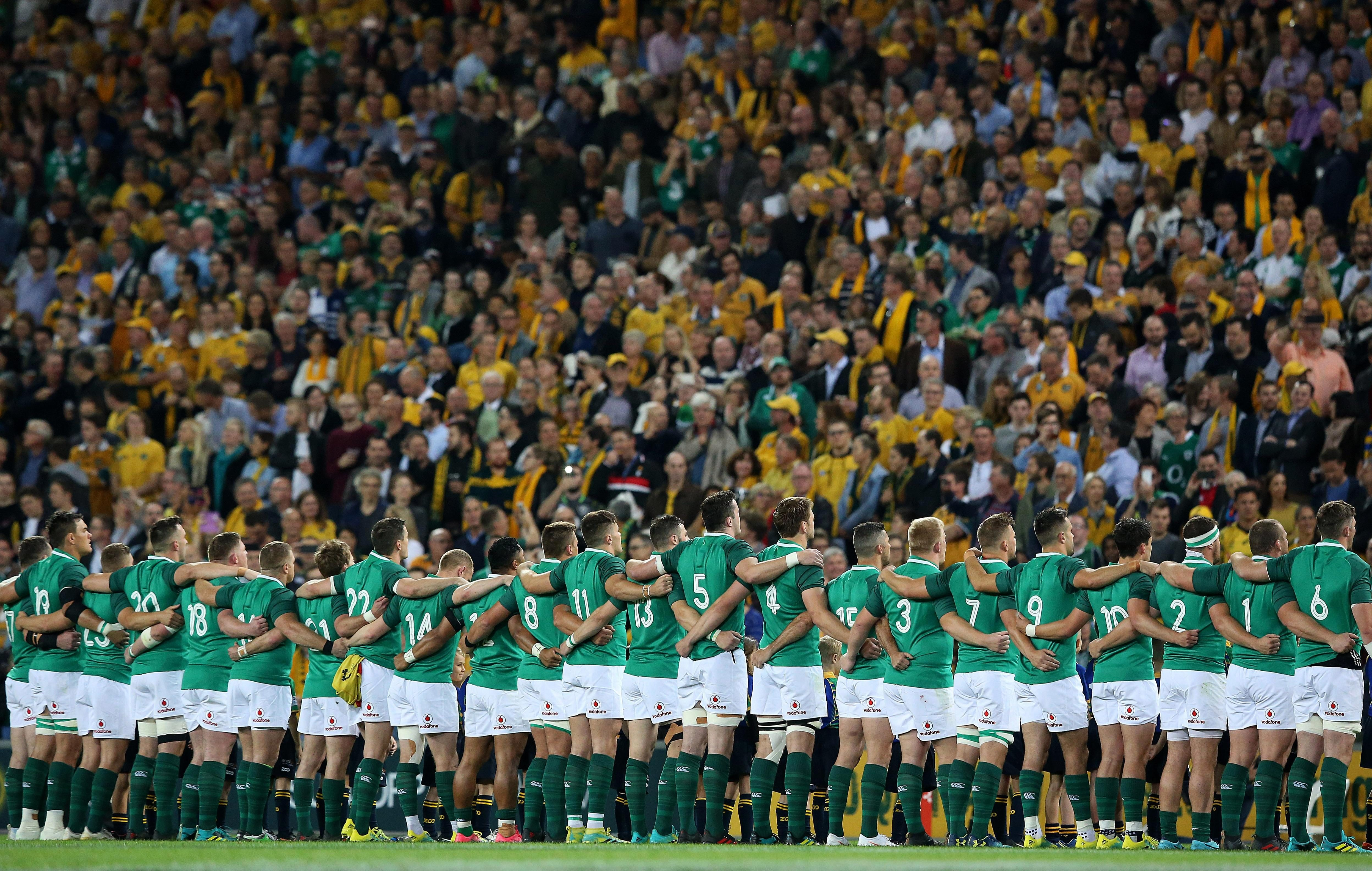A big Irish crowd turned up in Brisbane as they belted out the anthems