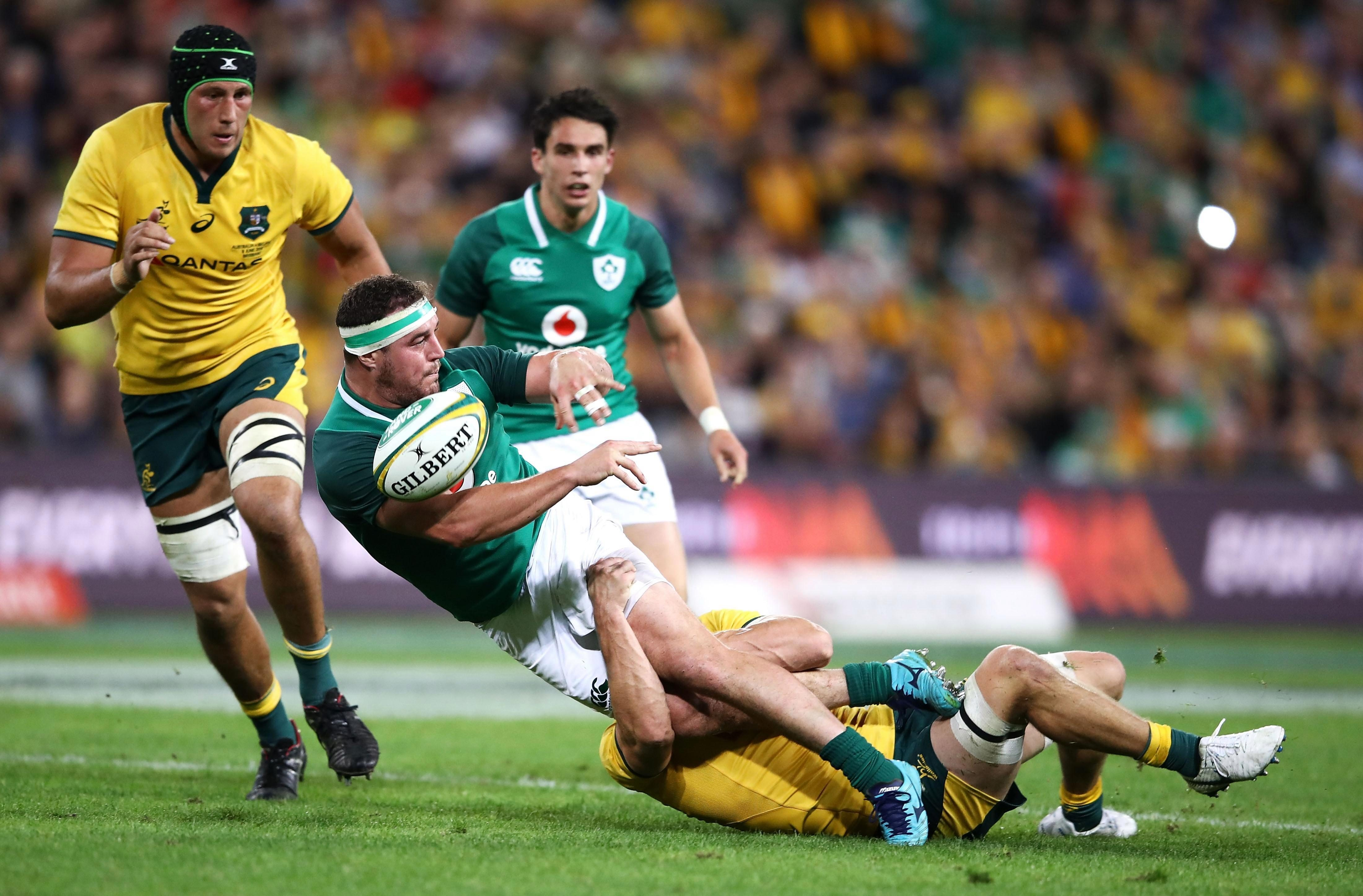 Ireland found it difficult to find their rhythm against an aggressive and defensively solid Australia side