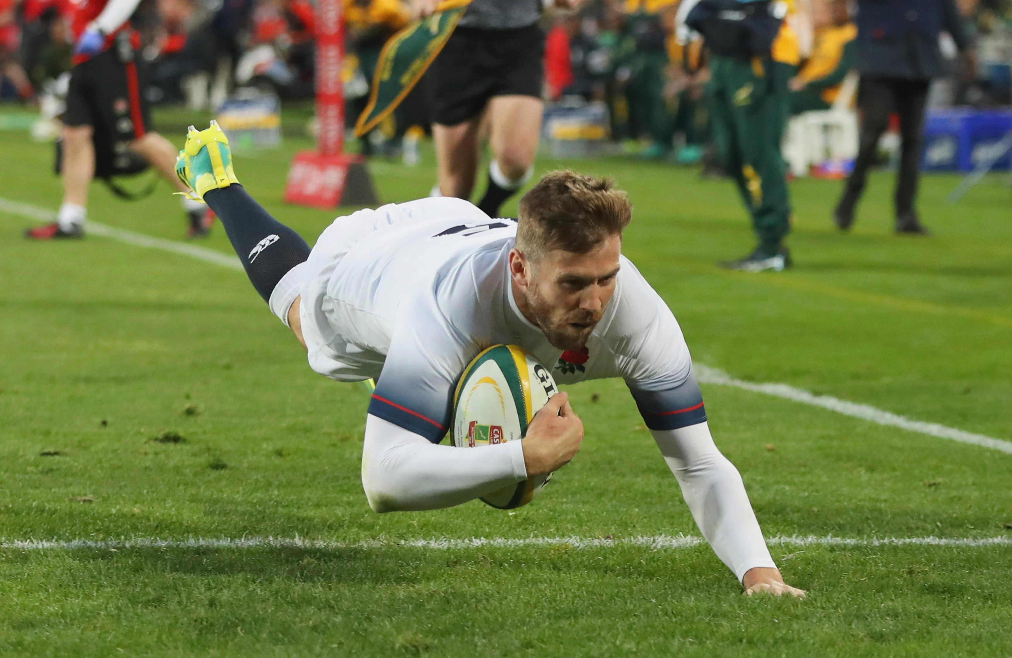 Elliot Daly scored Eddie Jones' side's second try of the game in Johannesburg