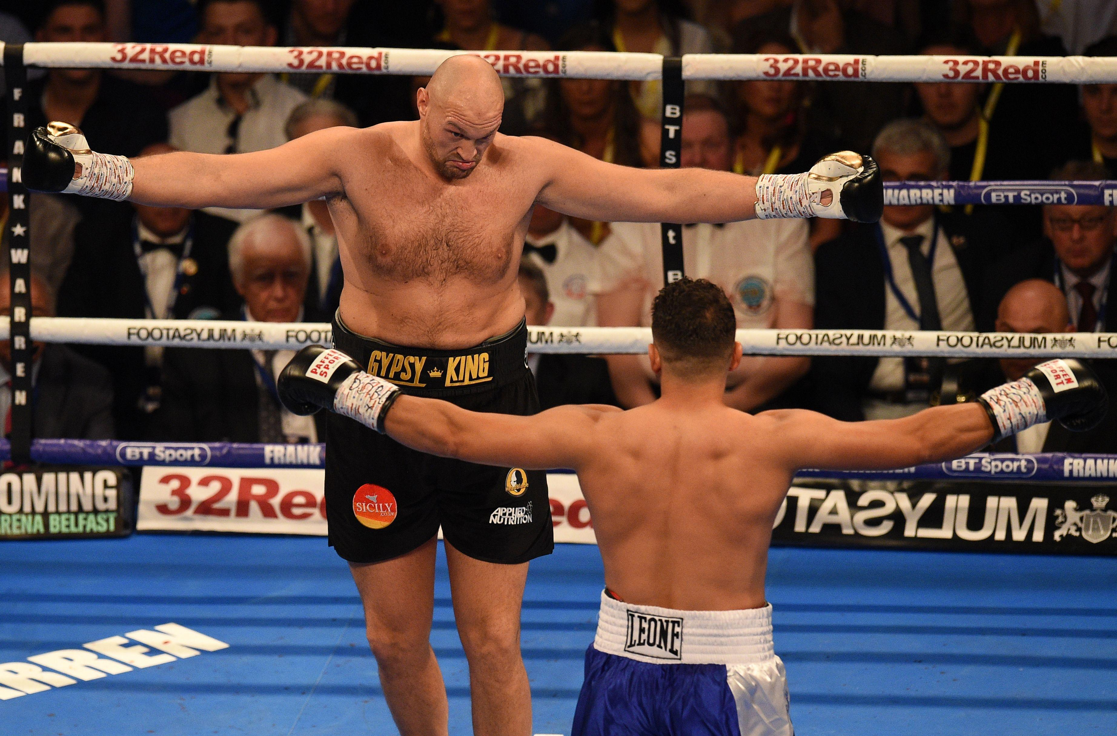 Tyson Fury had no problems whatsoever in dealing with everything Sefer Seferi had to offer