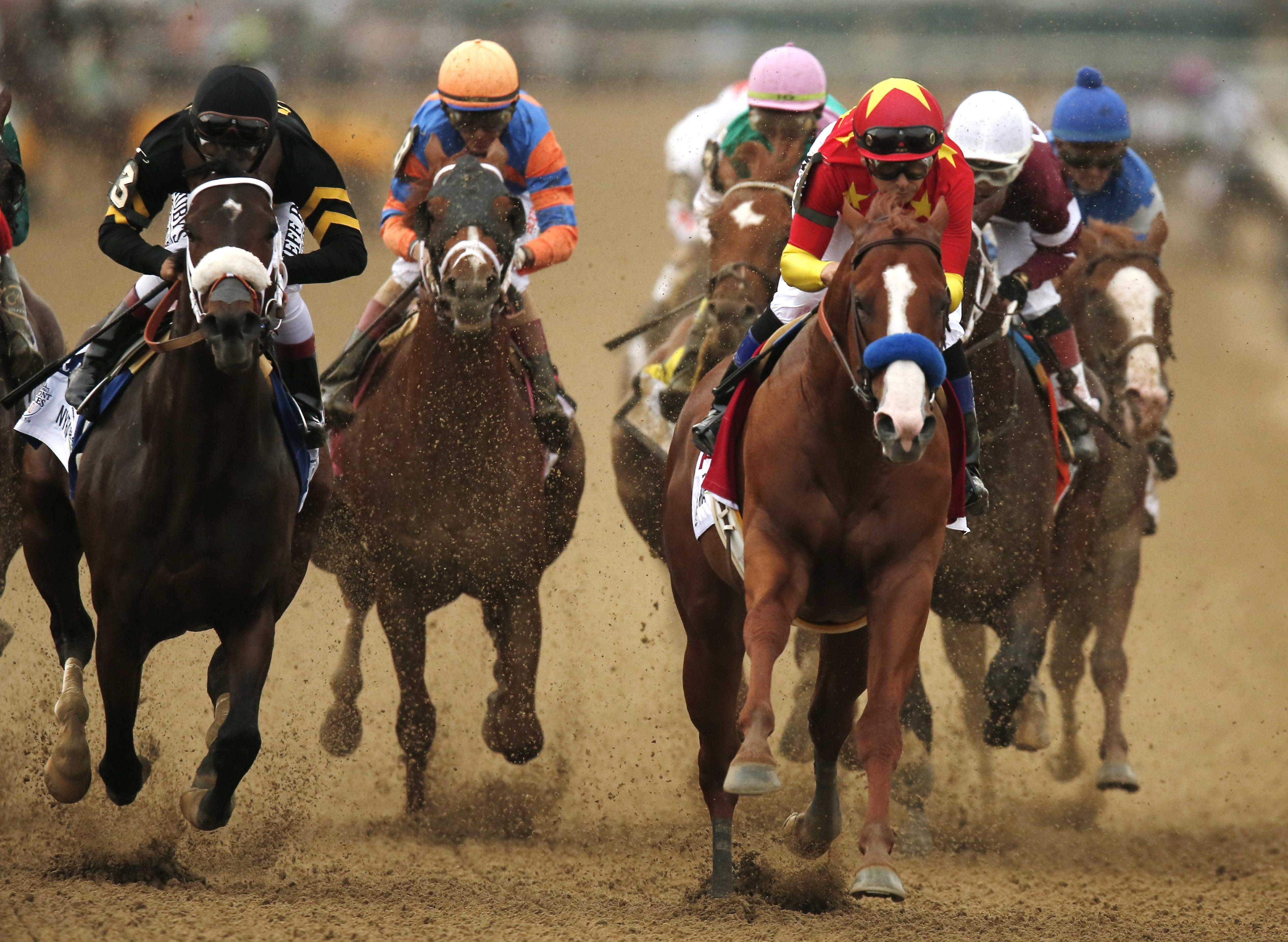 Justify (red) was a deserving winner of the Triple Crown
