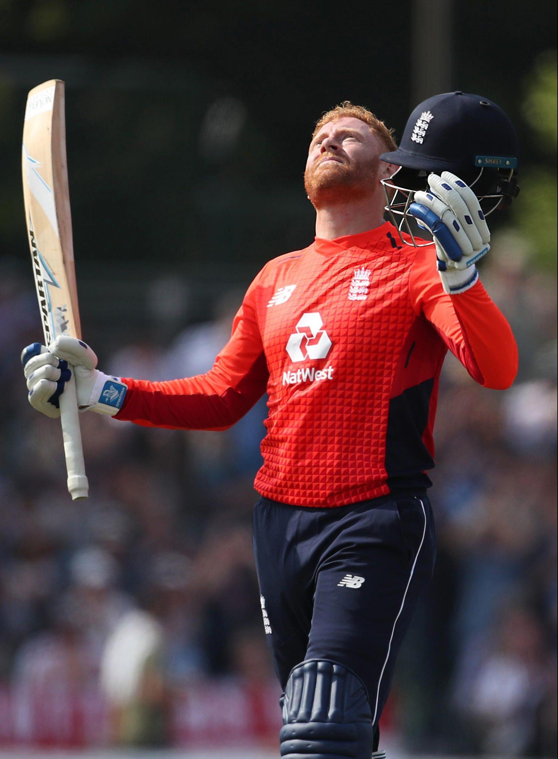 England ace Jonny Bairstow celebrates his century