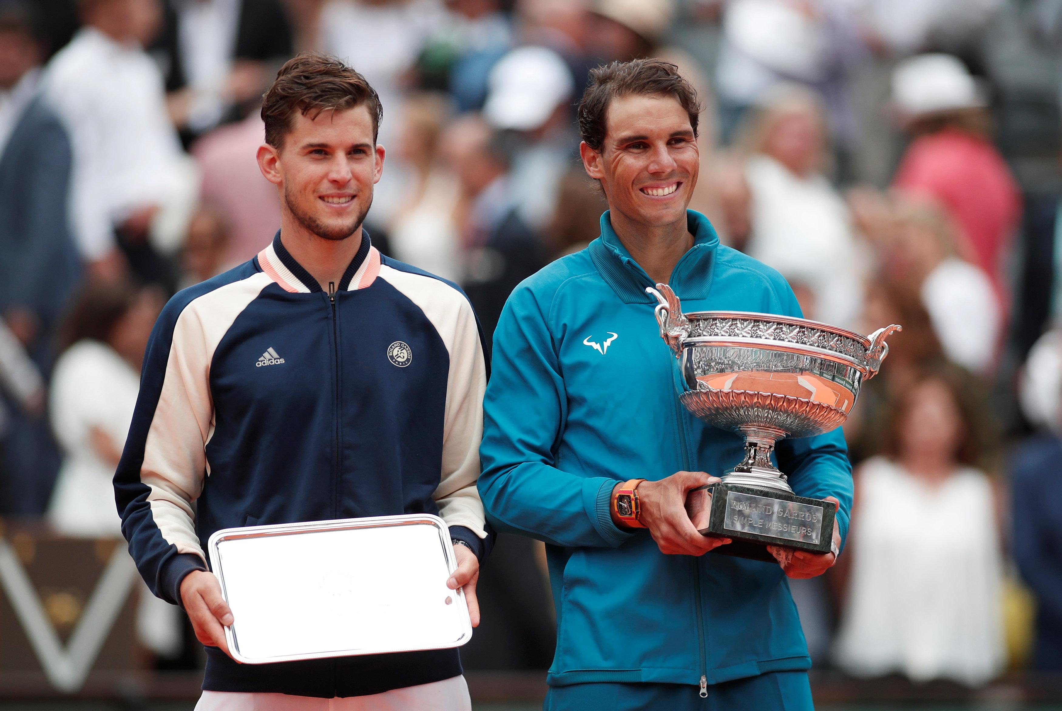 """Nadal said: """"It was my best match of the tournament and I needed to play well because Dominic is a very aggressive player."""""""