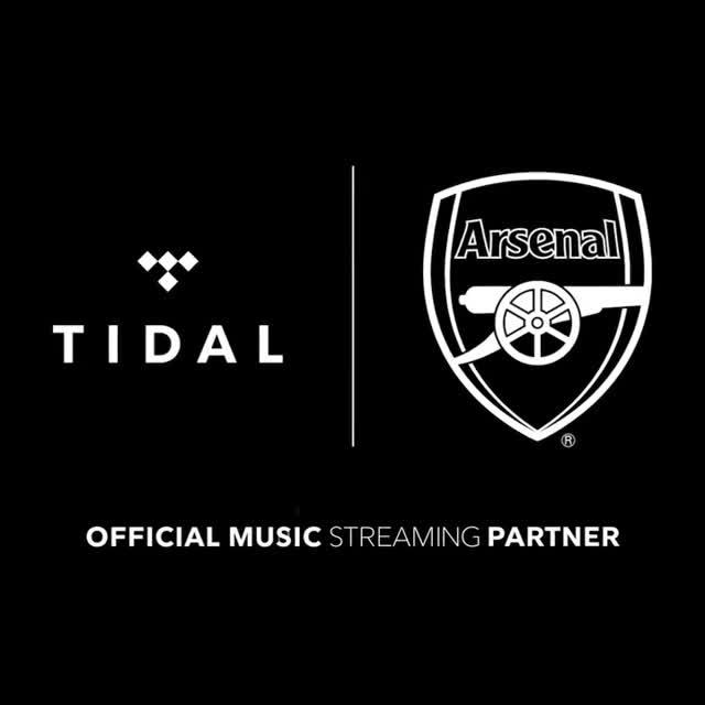 Tidal are now the official music streaming partner of Arsenal FC