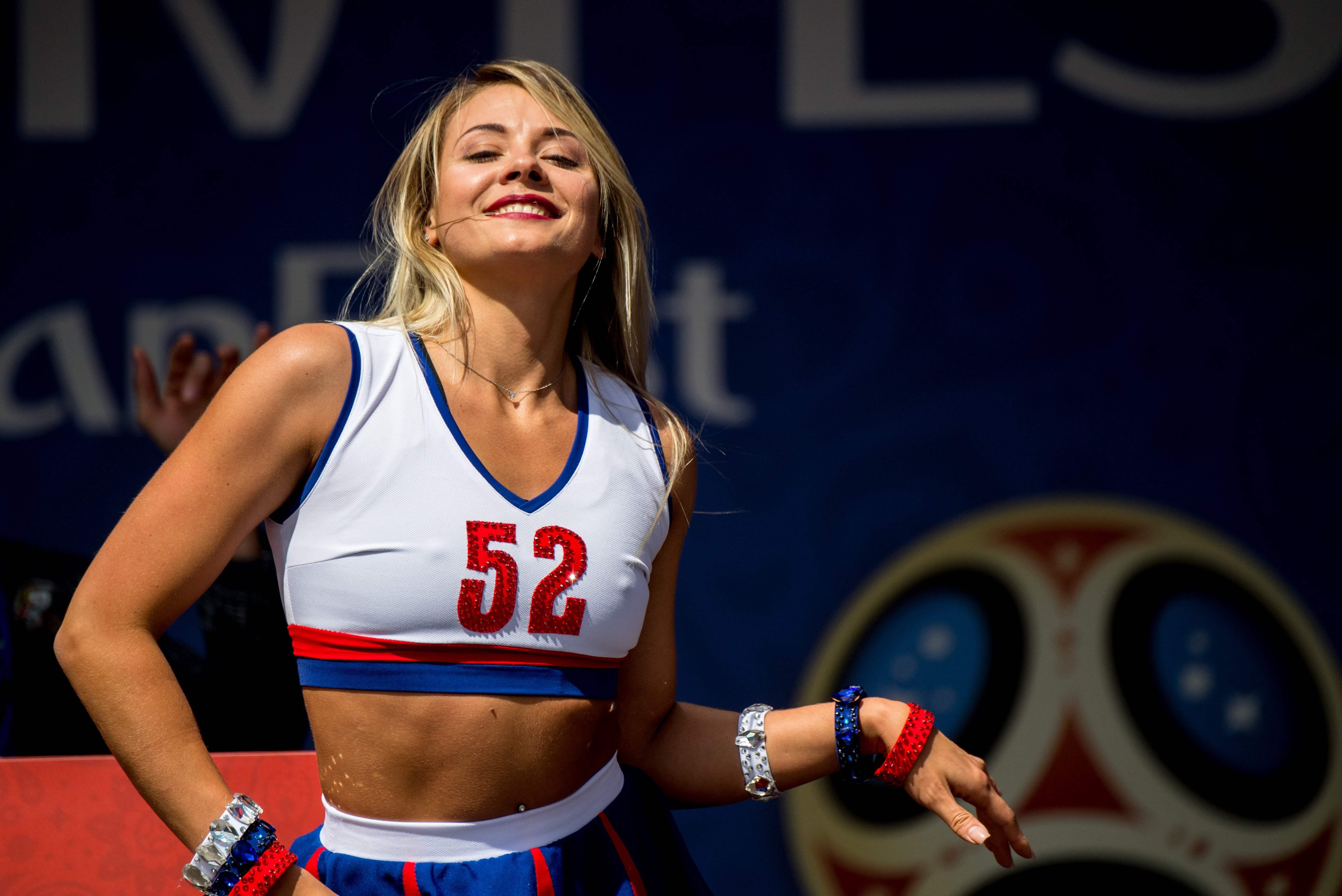 Around 500 dancers took to the turf in Moscow to raise the curtain on what should be a riveting summer of football