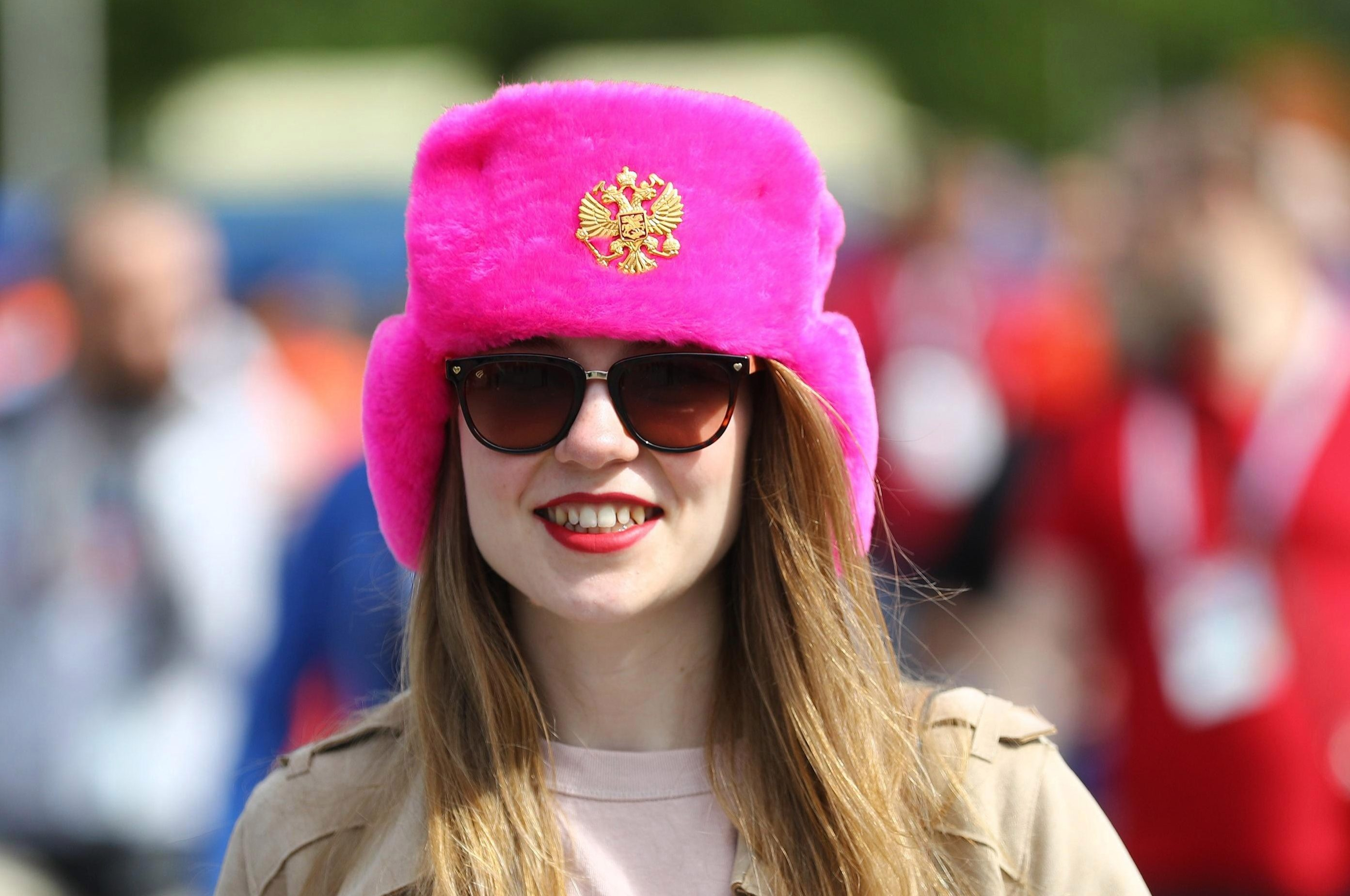 Some fans arrived in the traditional Russian Ushanka hat