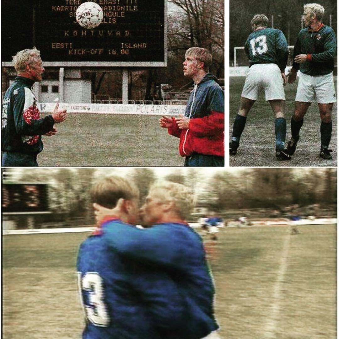 Arnor Gudjohnsen helped steer a young Eidur through the challenges of being an up-and-coming young footballer - now he is helping the third generation of the family do the same