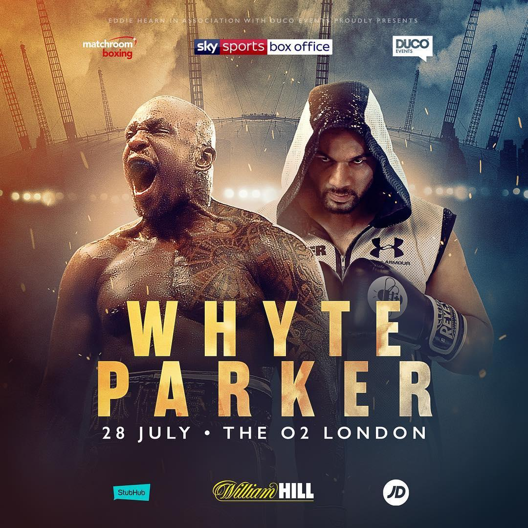 Dillian Whyte will take on Joseph Parker at the O2 Arena in London