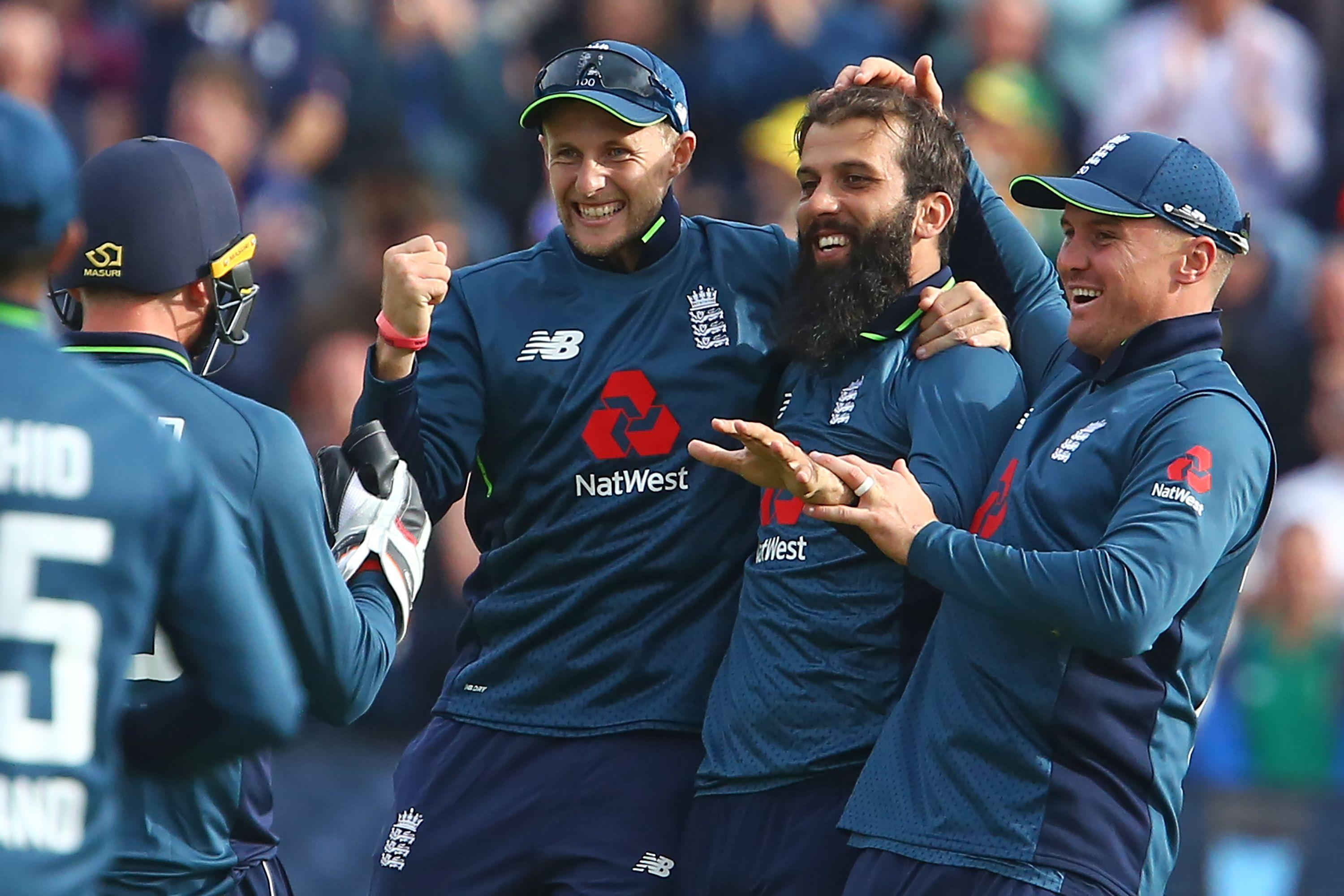 Moeen Ali took two wickets as England cruised to victory