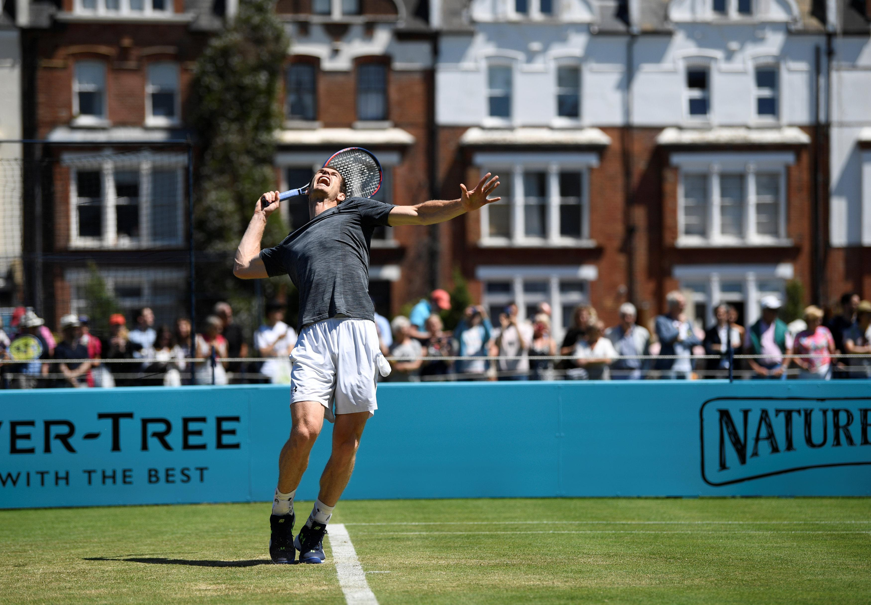 Andy Murray will feature at the Fever-Tree Championships this week