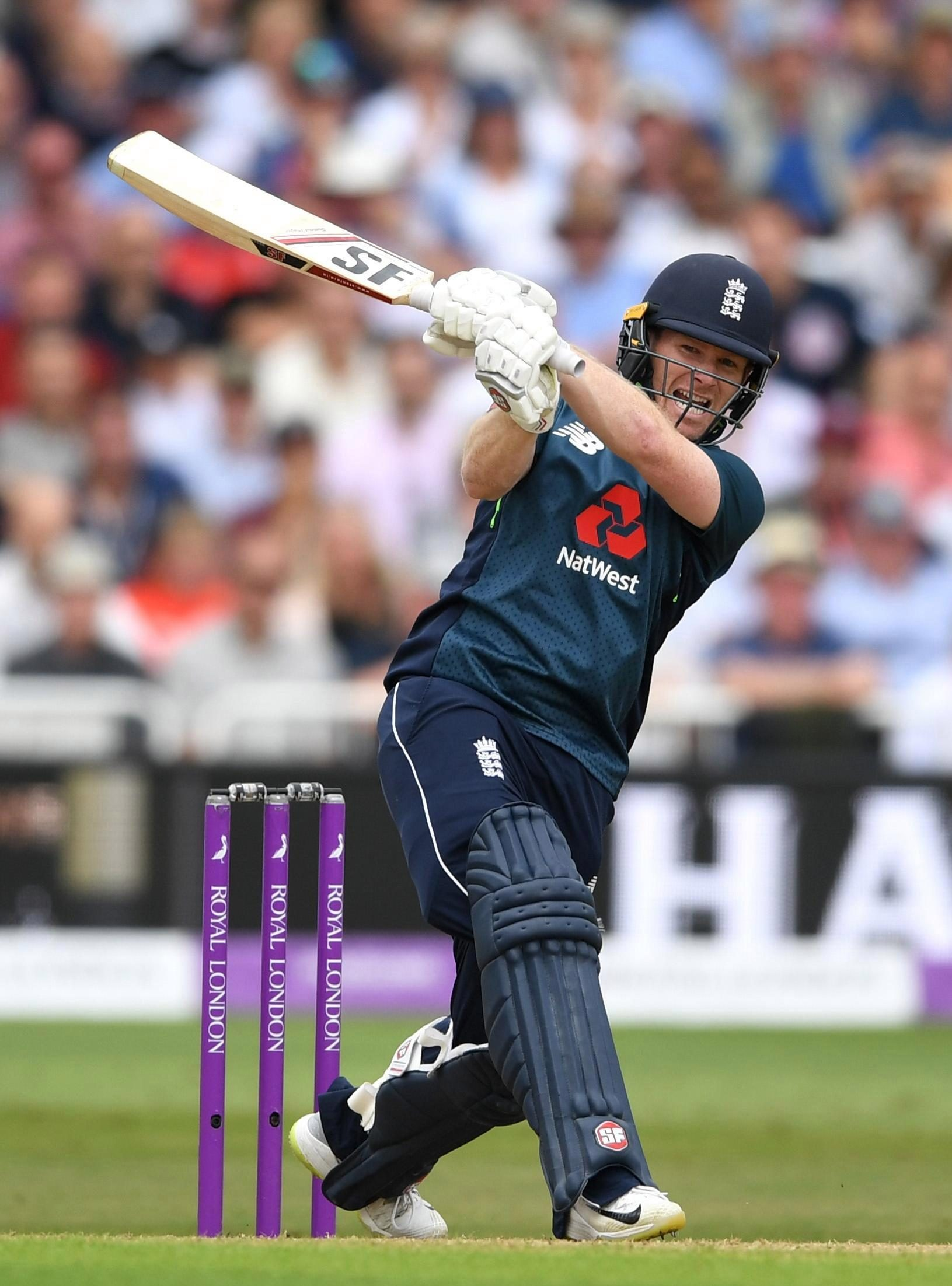 Eoin Morgan became England's all-time leading ODI scorer as he joined the party
