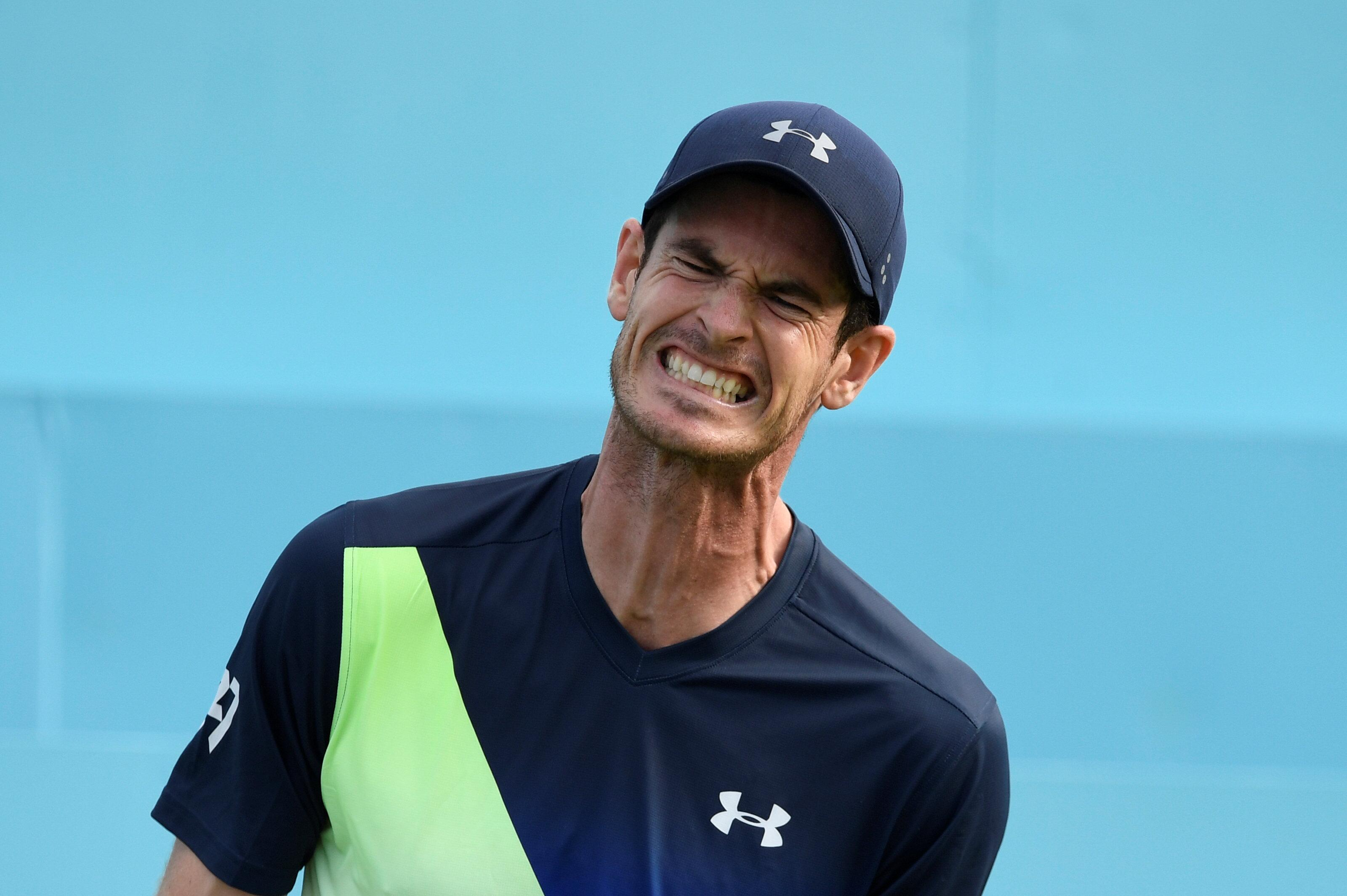 Andy Murray started brightly but could not keep up the pace in his comeback match