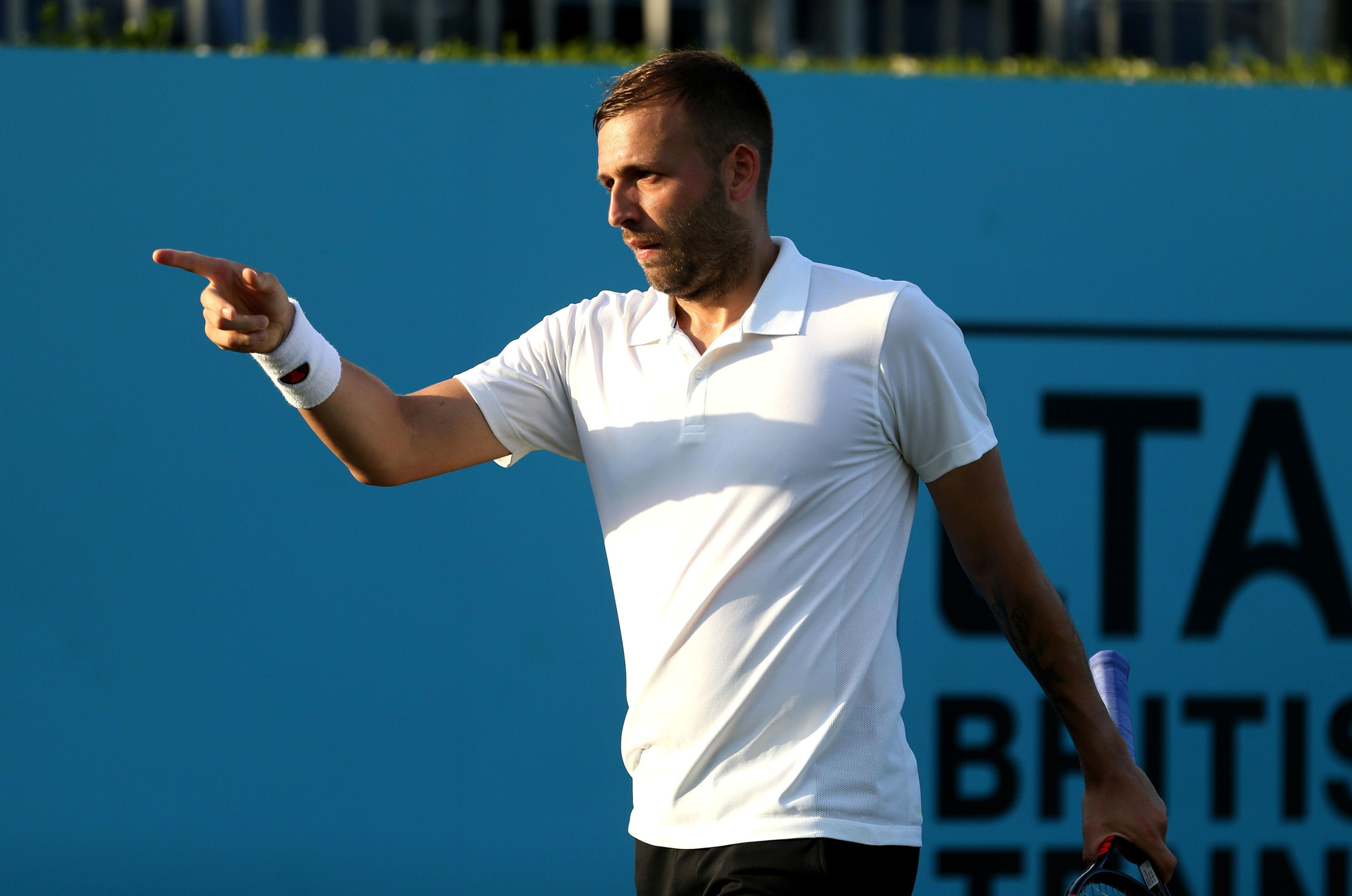 Dan Evans is hoping to make his Great Britain return in the Davis Cup