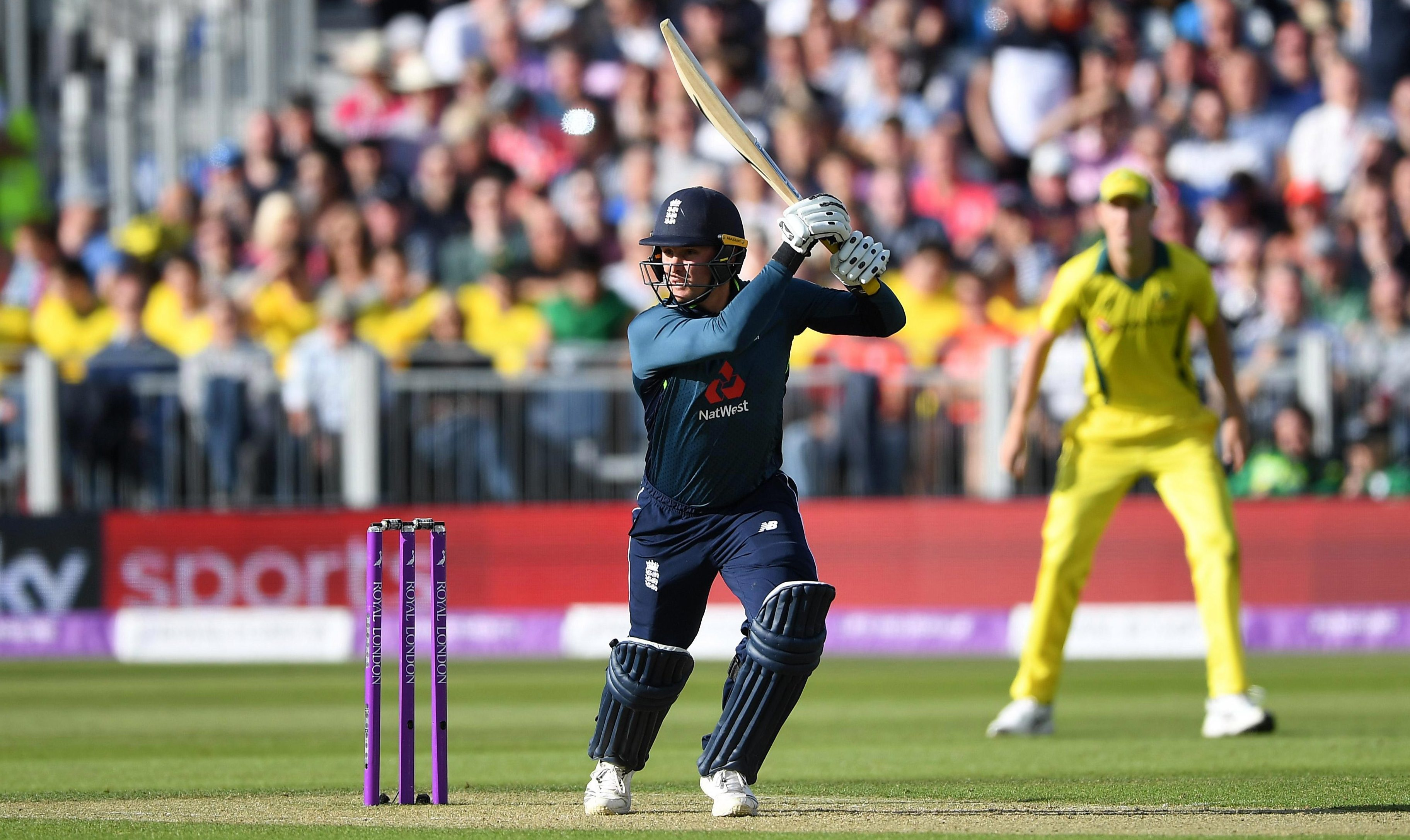 Jason Roy's ton sent England on their way to victory with more than five overs to spare