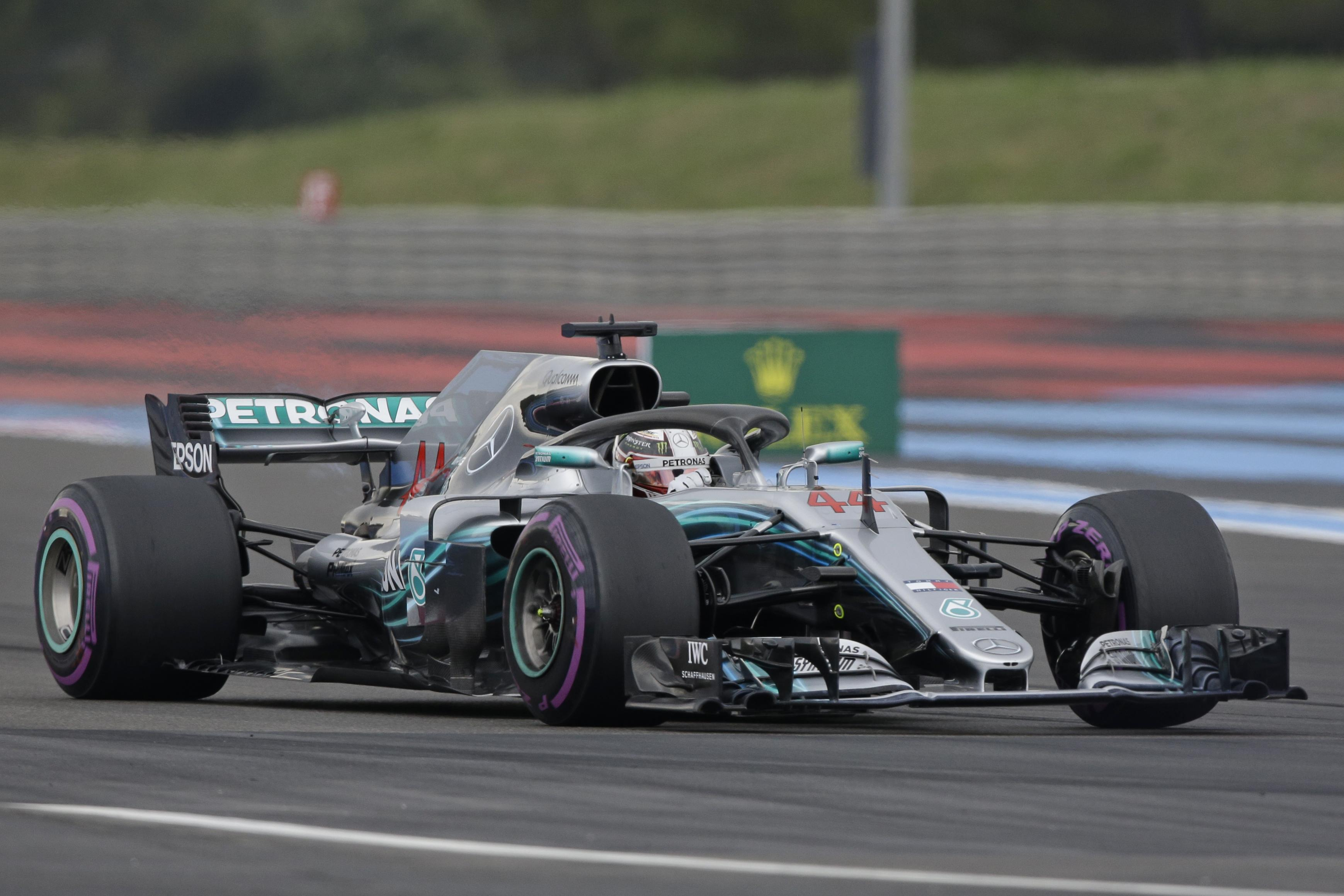 Lewis Hamilton dominated Friday's practice at the Paul Ricard Circuit