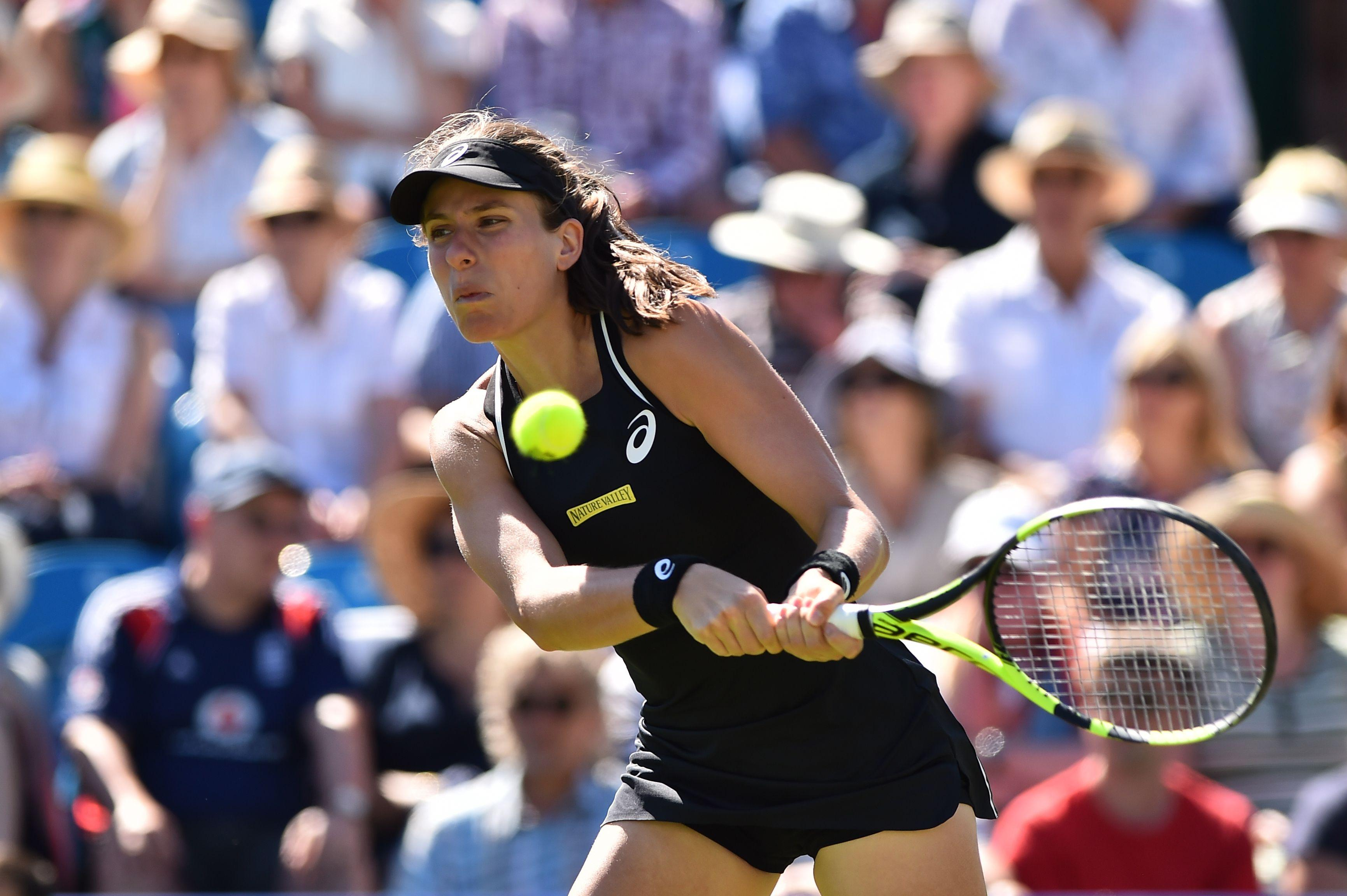 Konta lost to Krunic at the US Open last year but got her revenge in Eastbourne