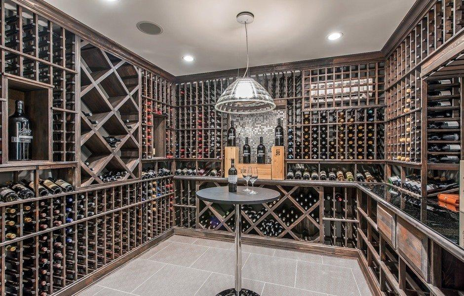 He has a large wine cellar with an impressive collection of bottles