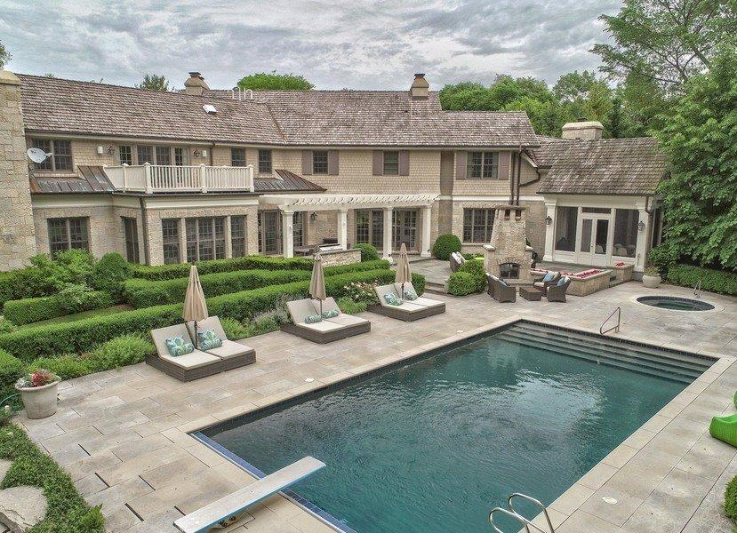 Luke Donald's plush pad comes with a large outdoor swimming pool