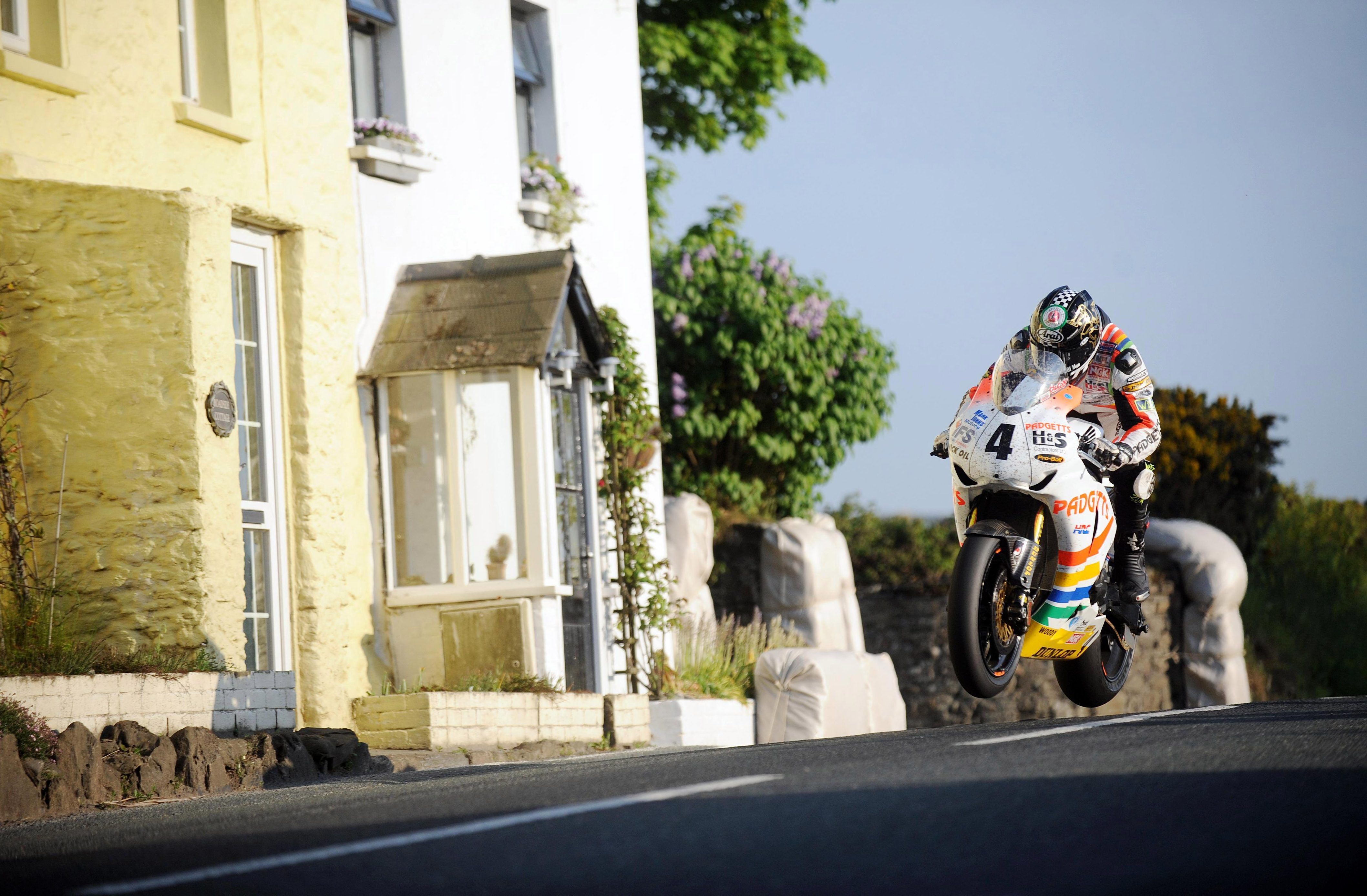Riders have achieved speeds of more than 206mph on the Mountain Course