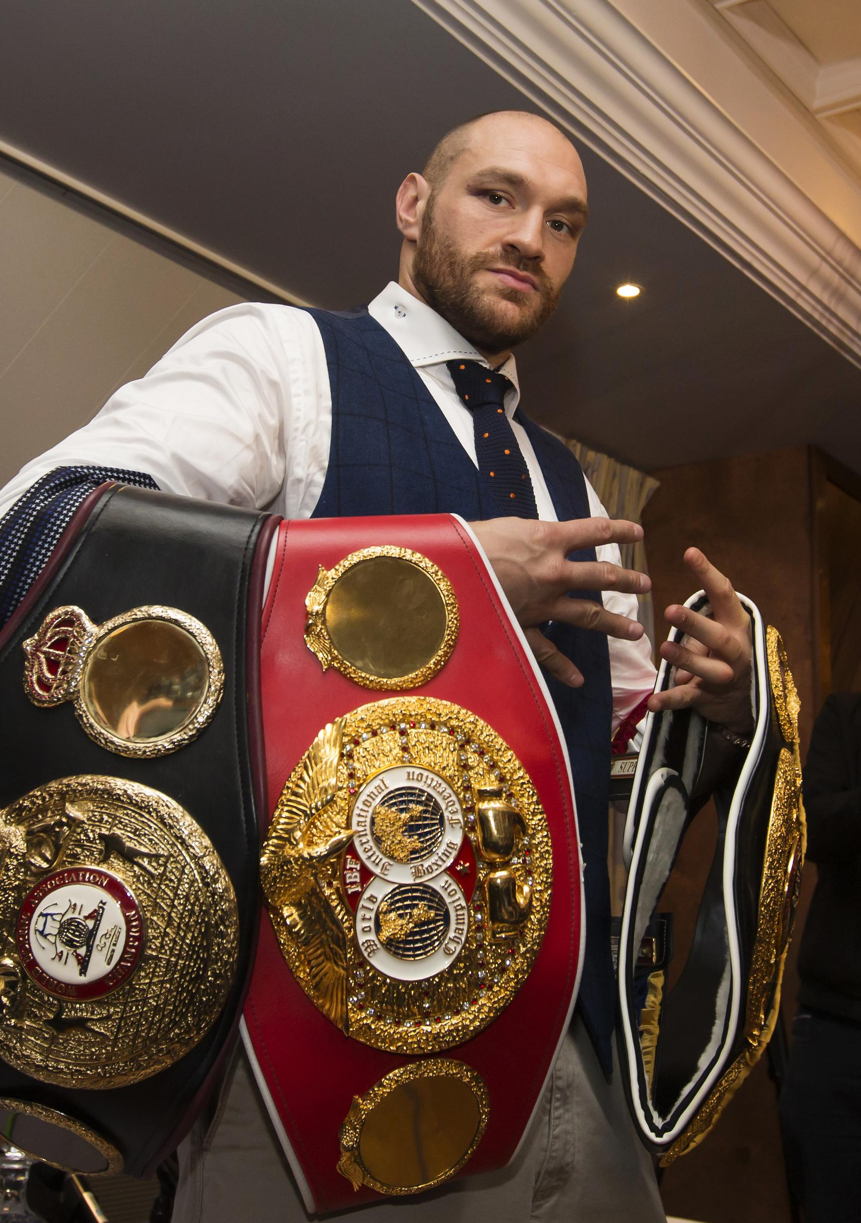 Former heavyweight champ Tyson Fury is desperate to return to his former glory