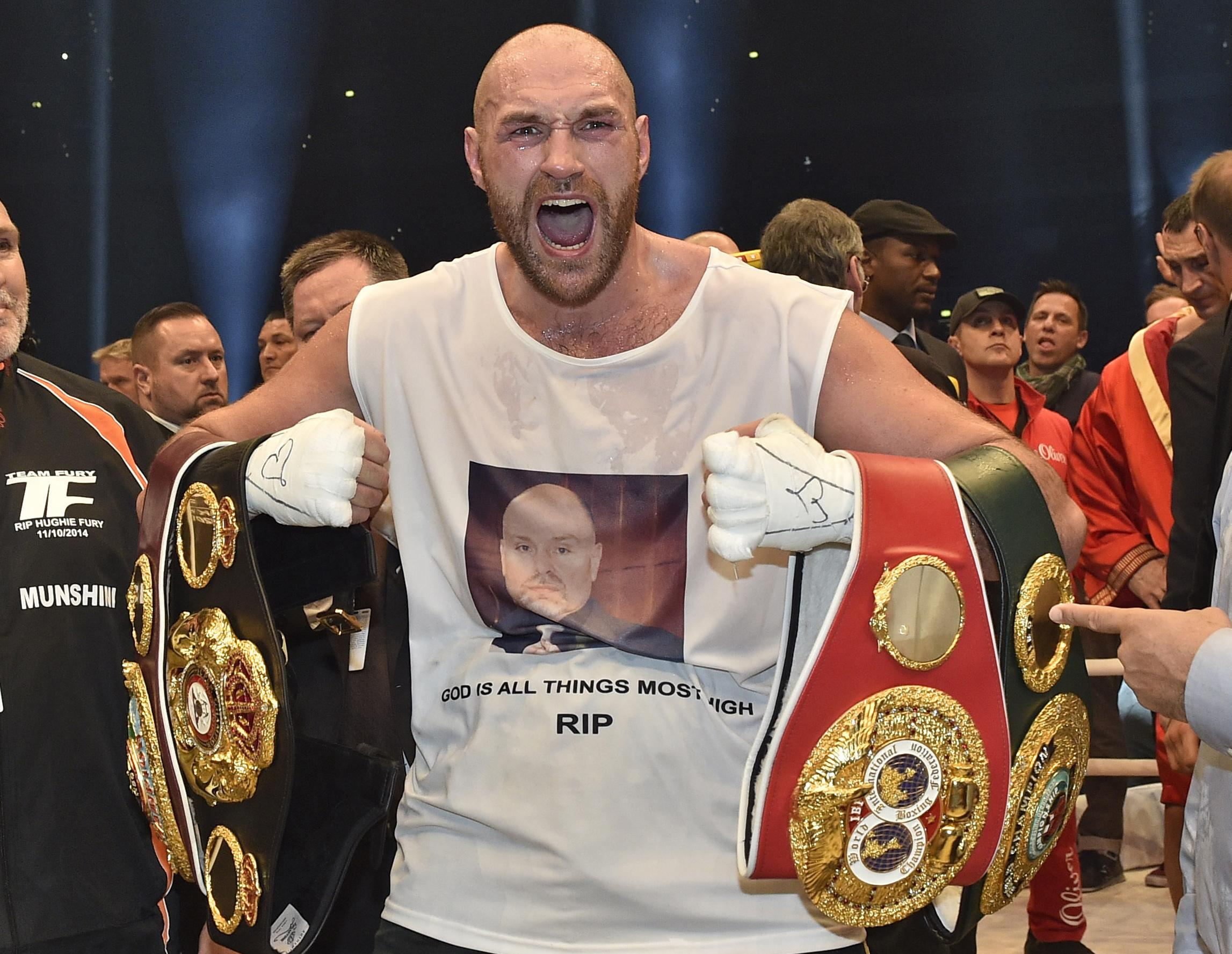 Fury is ready to reclaim the heavyweight belts he lost