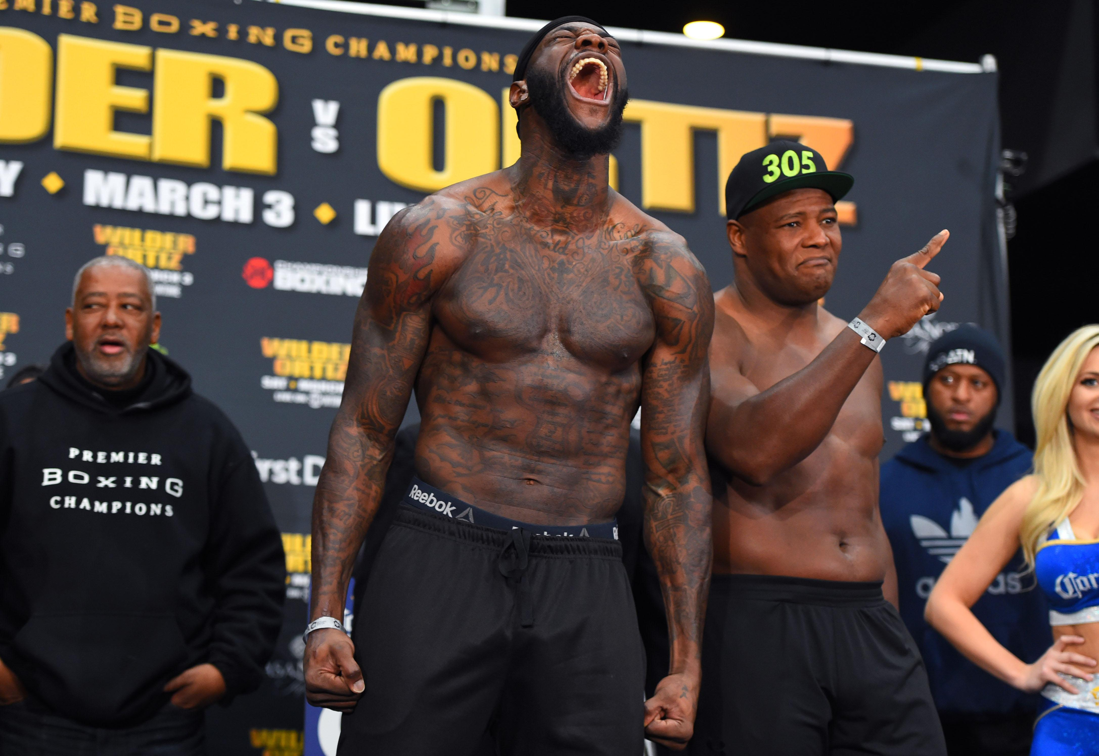 He also stated he had to fight AJ and American heavyweight king Deontay Wilder