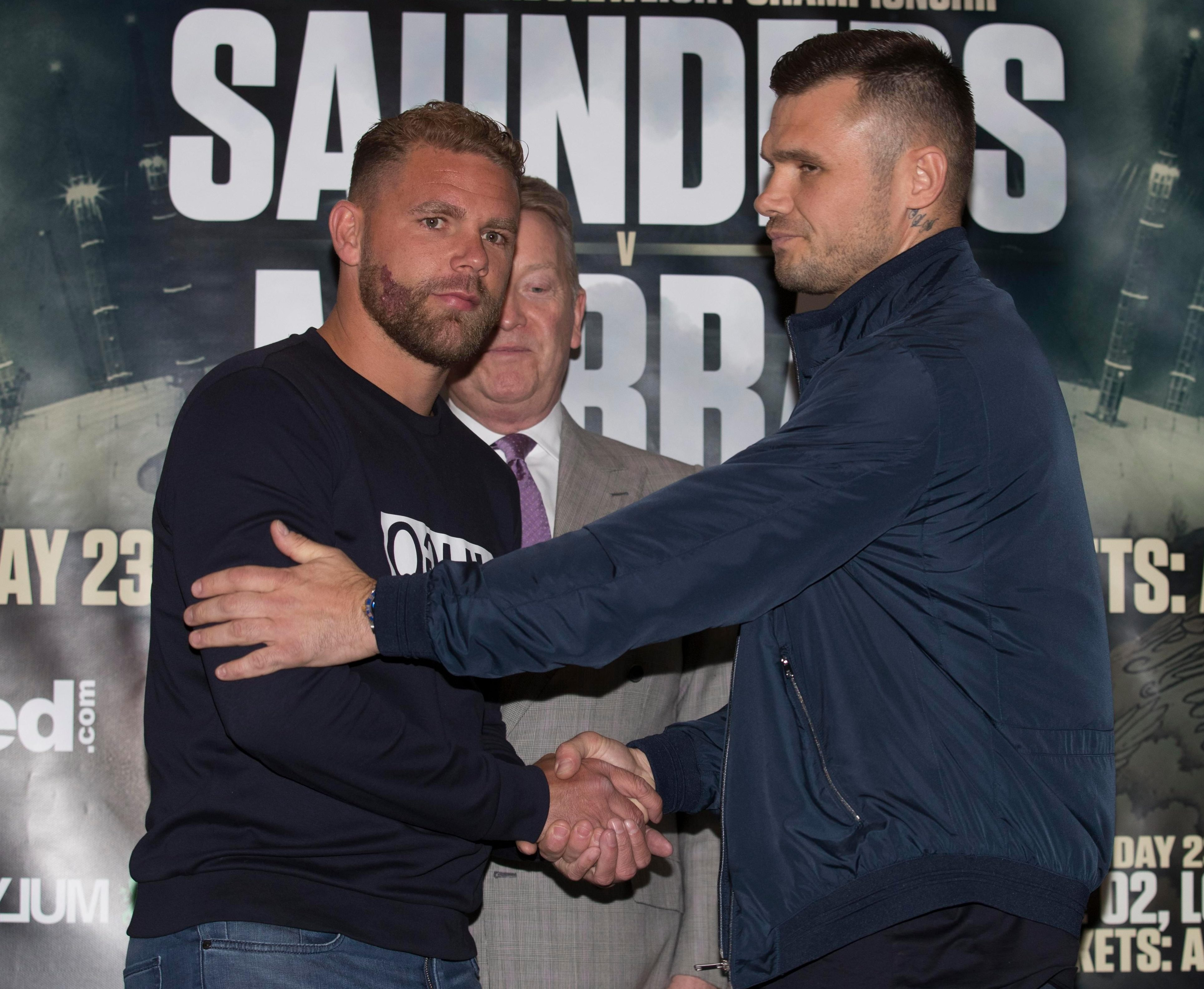 The first fight was cancelled in April due to Saunders' getting injured, now the second time of asking has been blown away too