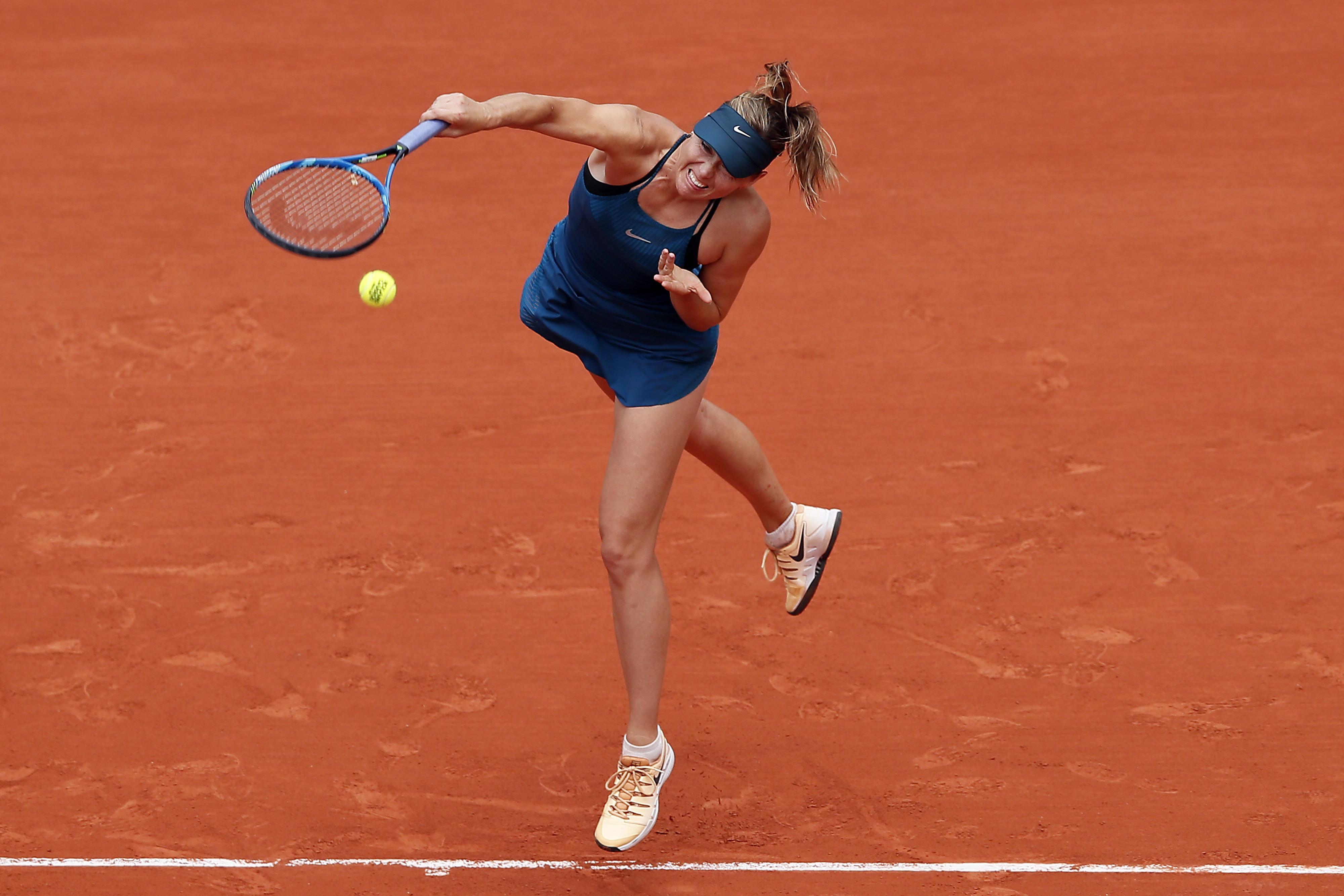Maria Sharapova was far too strong for Karolina Pliskova