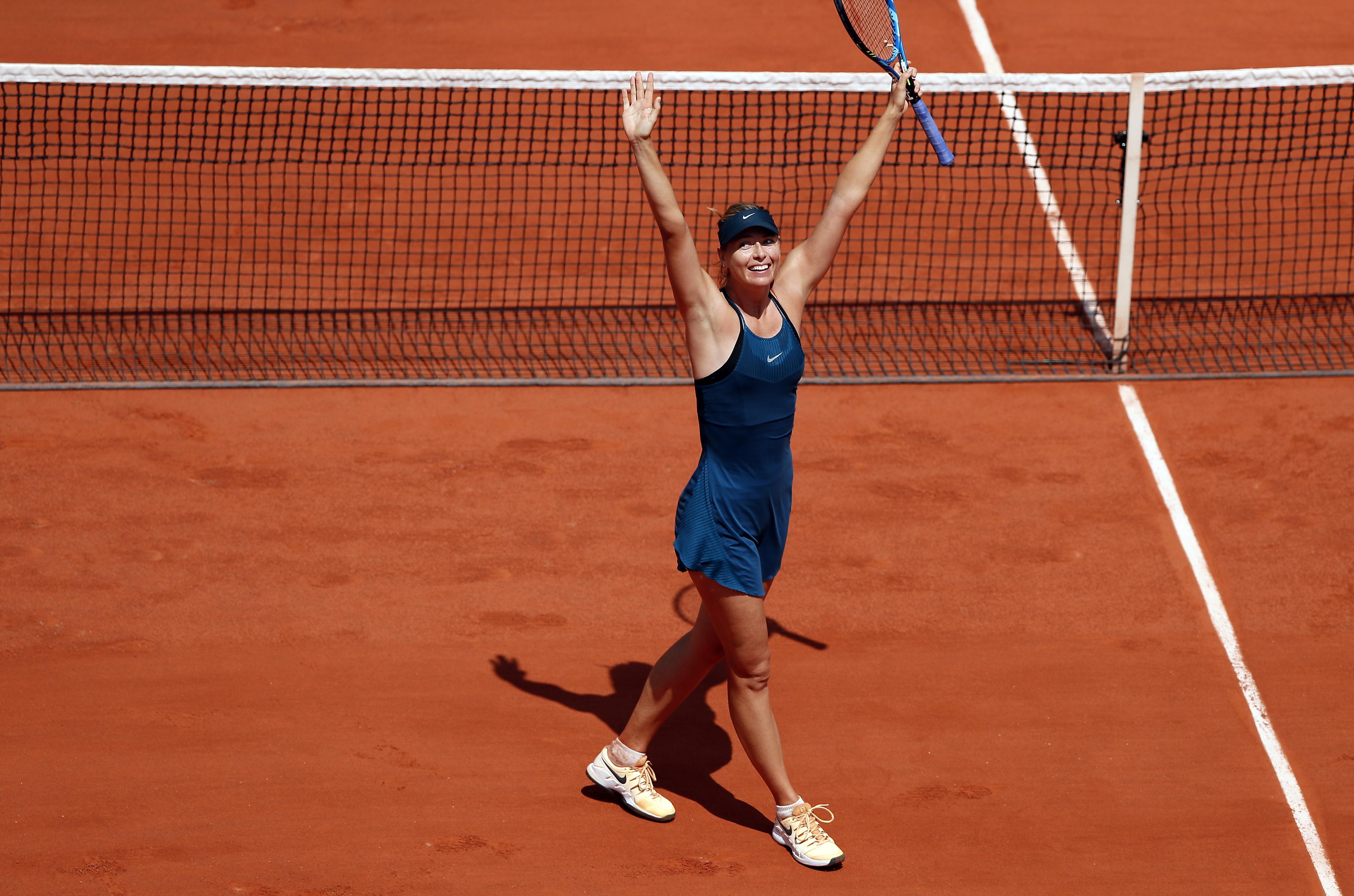 Maria Sharapova beat sixth seed Karolina Pliskova on Saturday