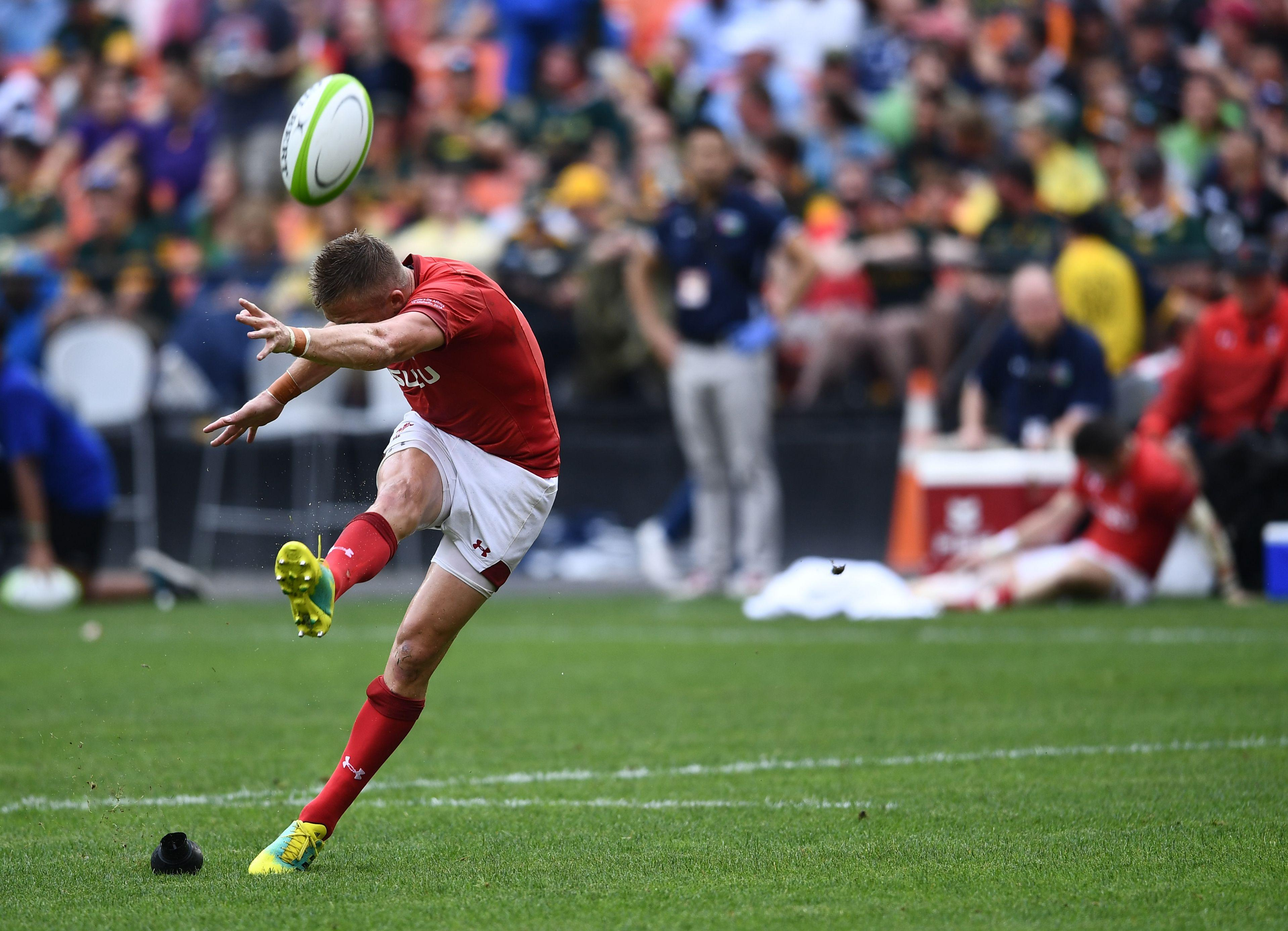 Gareth Anscombe was hit and miss with Wales' kicking in the American capital