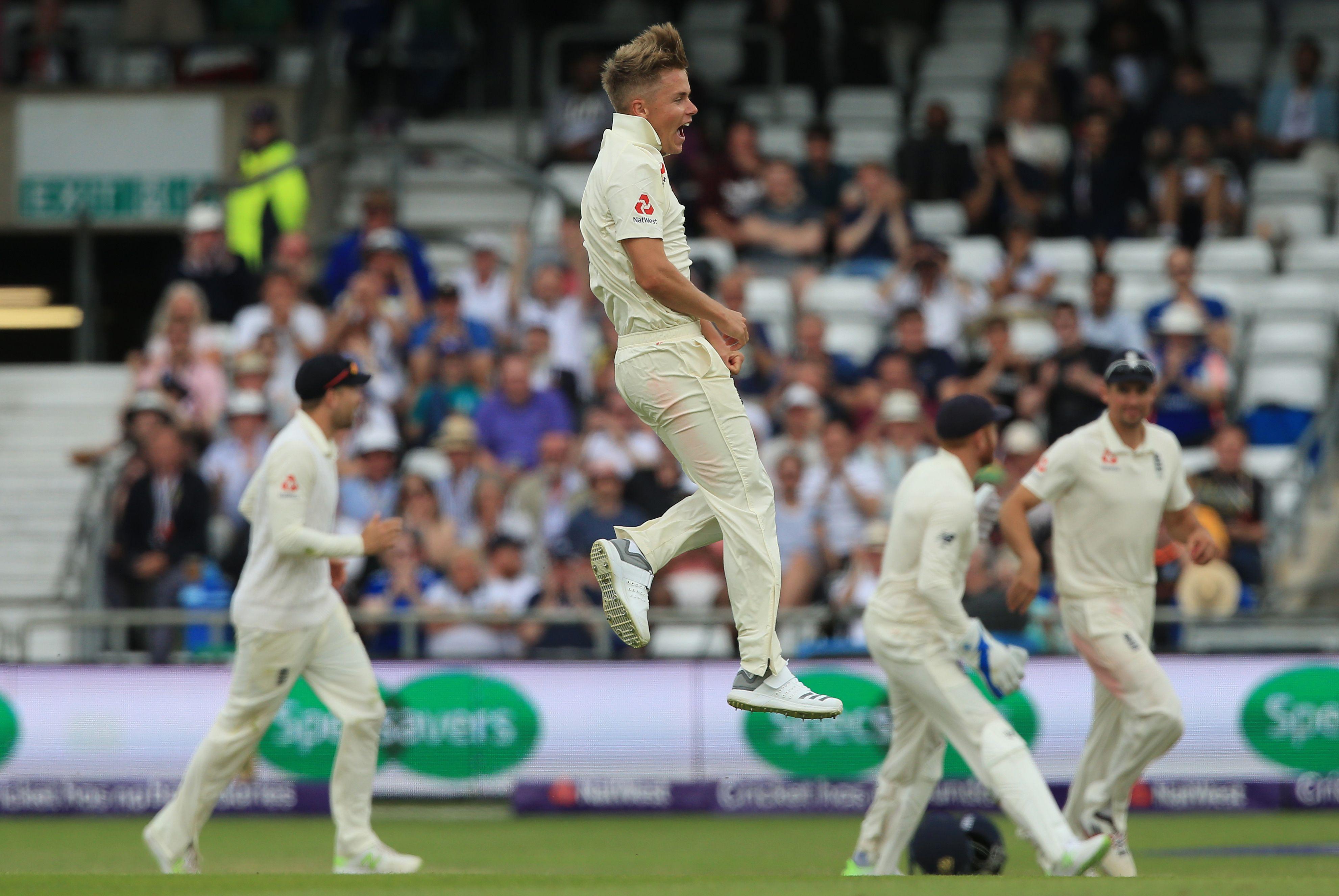 Birthday boy Sam Curran was also in the wickets on an eventful day three